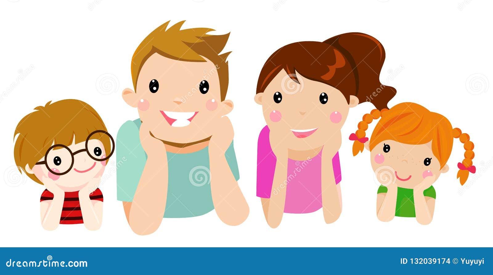 śliczny rodzinny szczęśliwy
