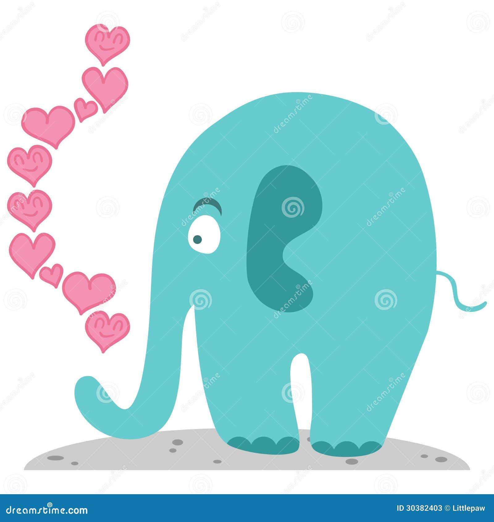 Śliczny słoń w miłości