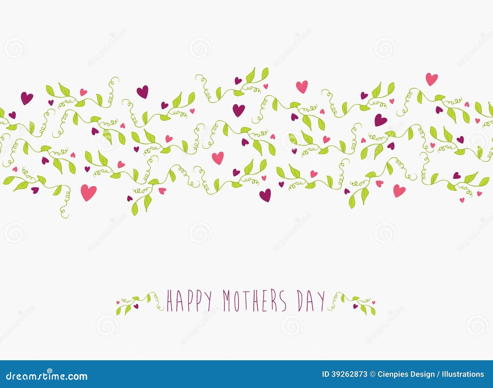 Śliczny Szczęśliwy matka dnia bezszwowy wzór