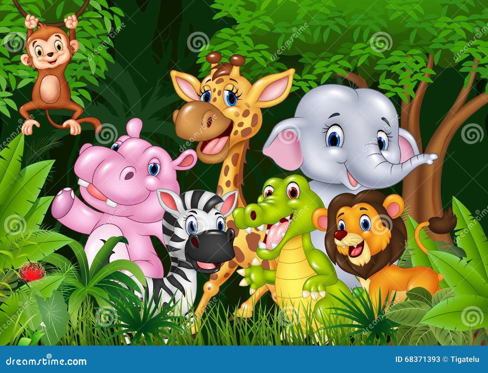 Śliczny zwierzęcy Africa w dżungli