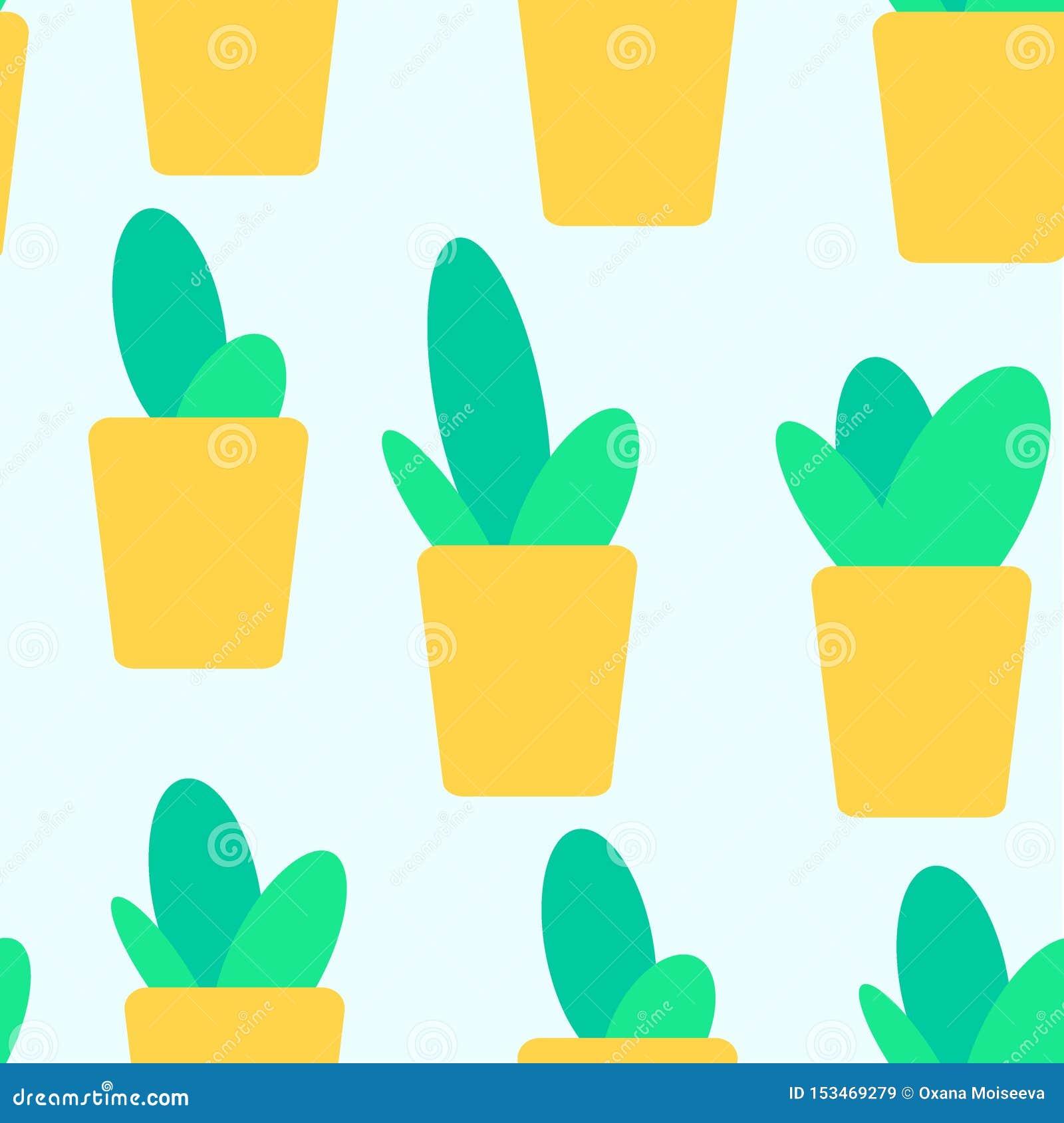 Ślicznych doodles kaktusowy bezszwowy wzór ?
