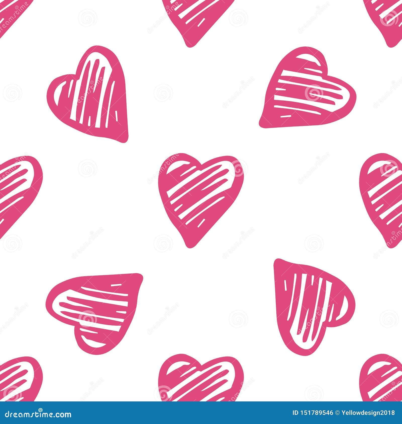 Ślicznych geometrycznych serc bezszwowy wzór 14 Luty tapeta