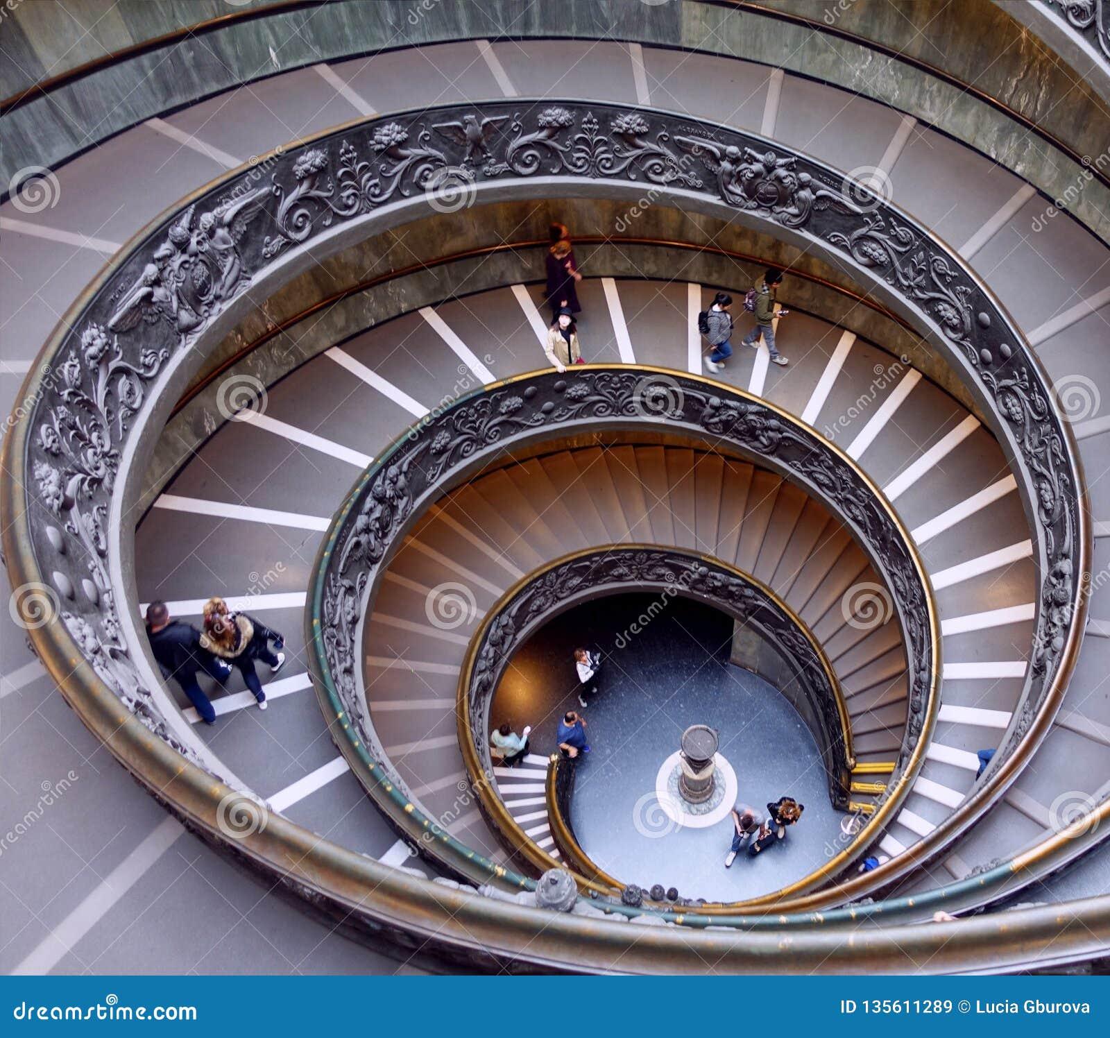 Ślimakowaci schodki w Watykańskich muzeach