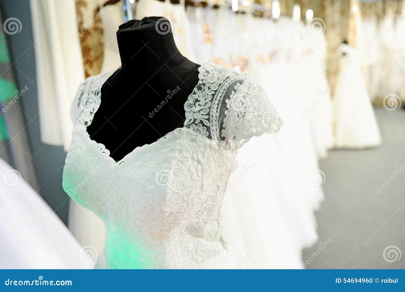 Ślubna suknia na mannequin