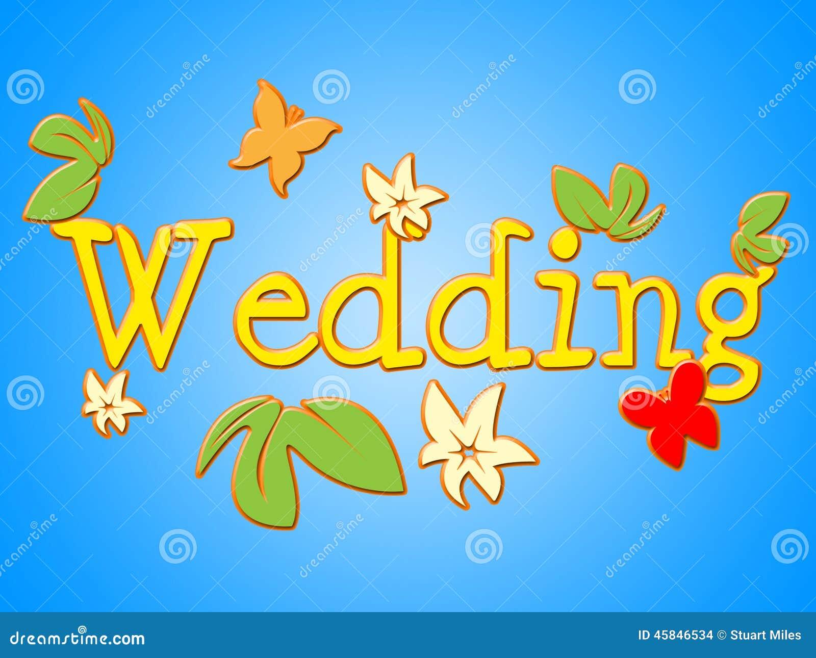 Ślubny znak Reprezentuje Dostaje Zamężnym I Komunikuje