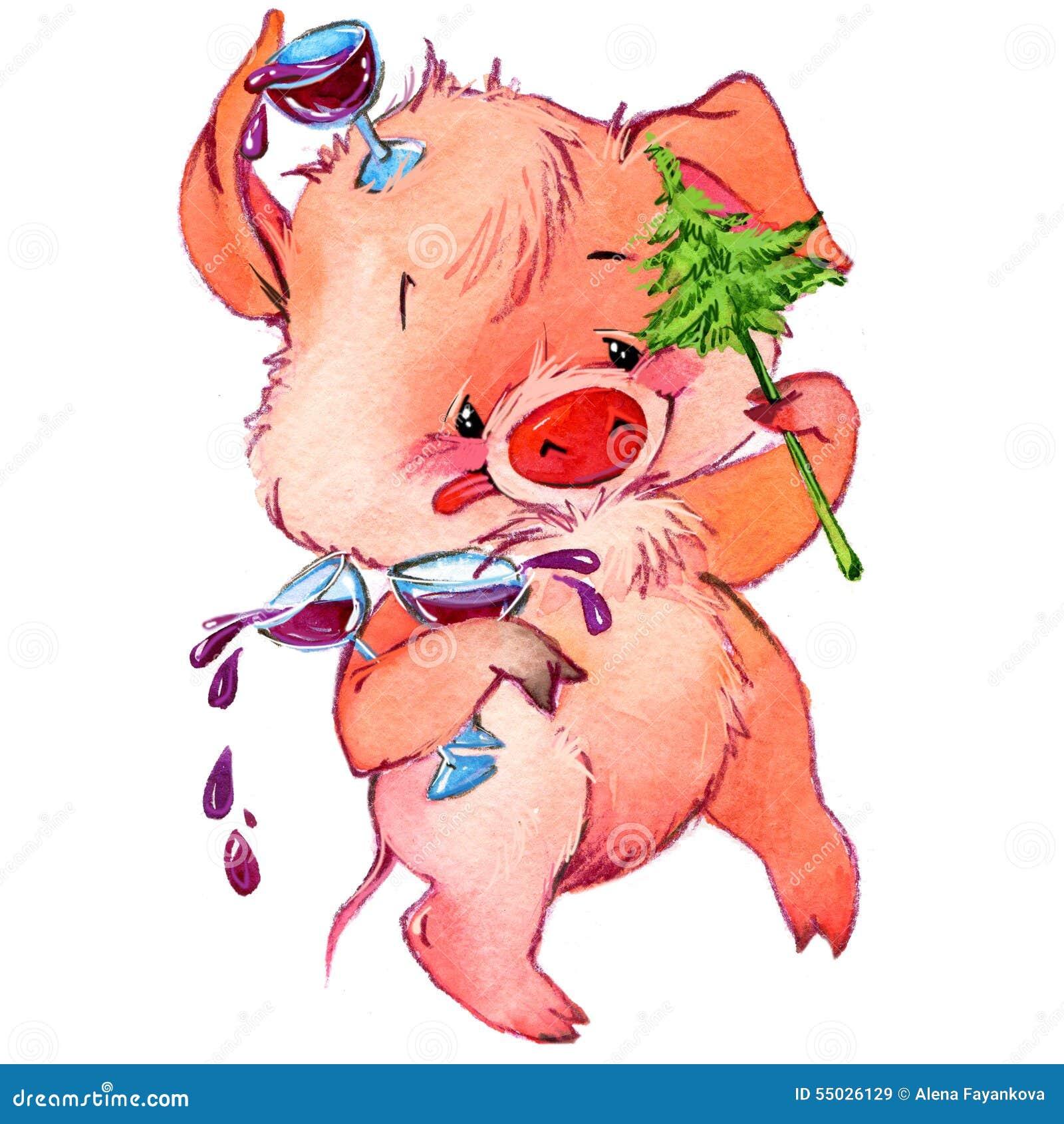Śmieszna świnia i przyjęcie