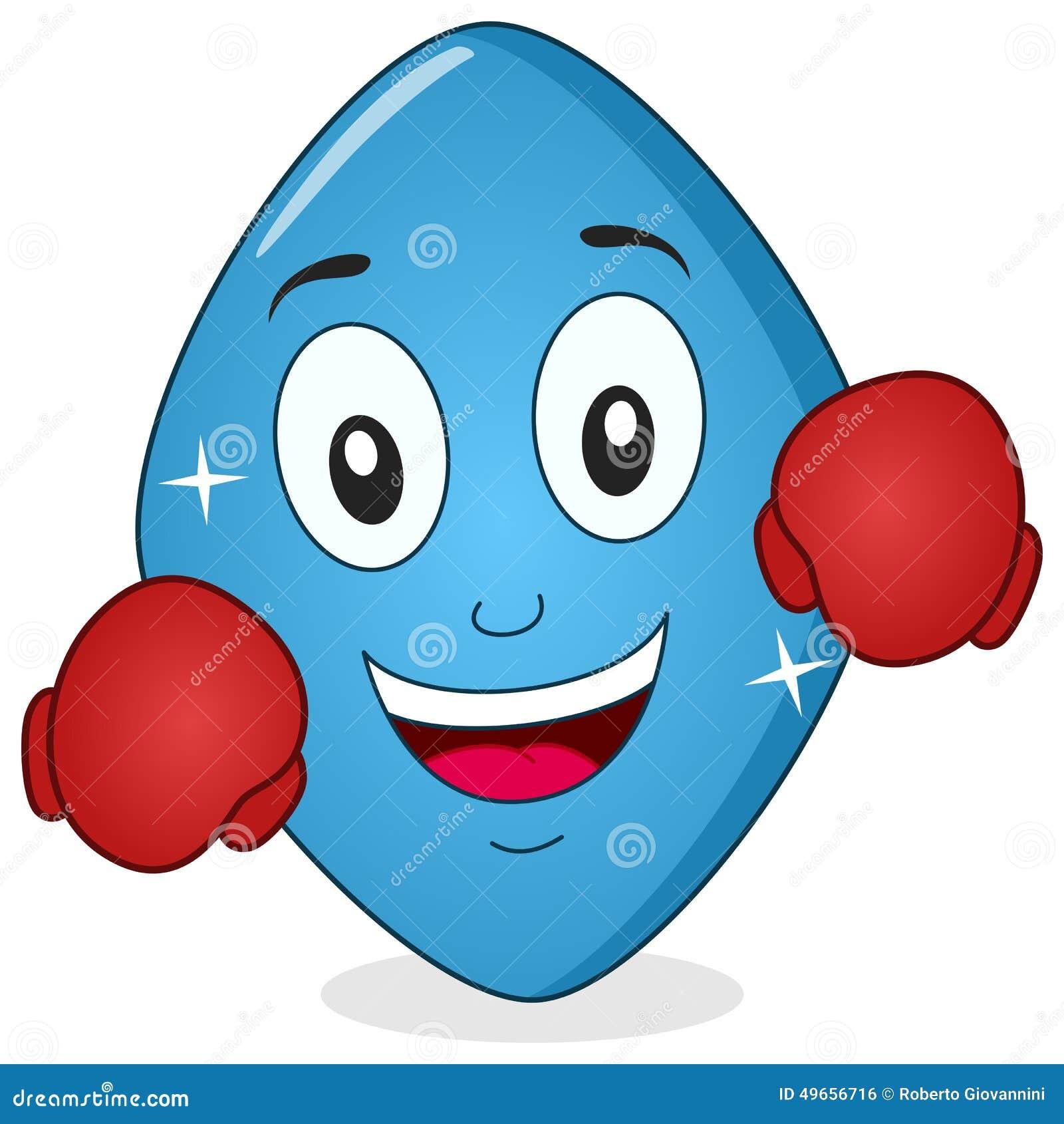 Śmieszna Błękitna pigułka Viagra z Bokserskimi rękawiczkami