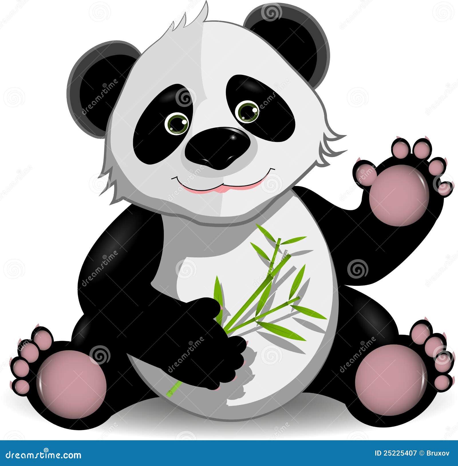 śmieszna panda