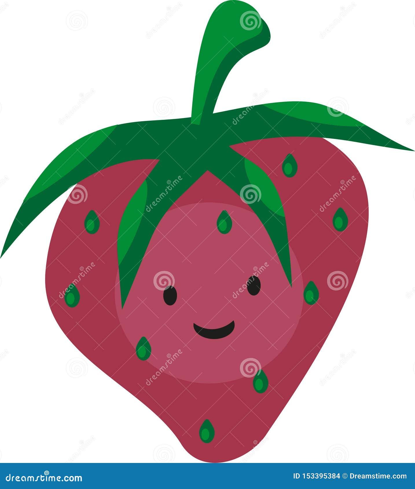 Śmieszna smyley kreskówki menchii truskawka z oczami