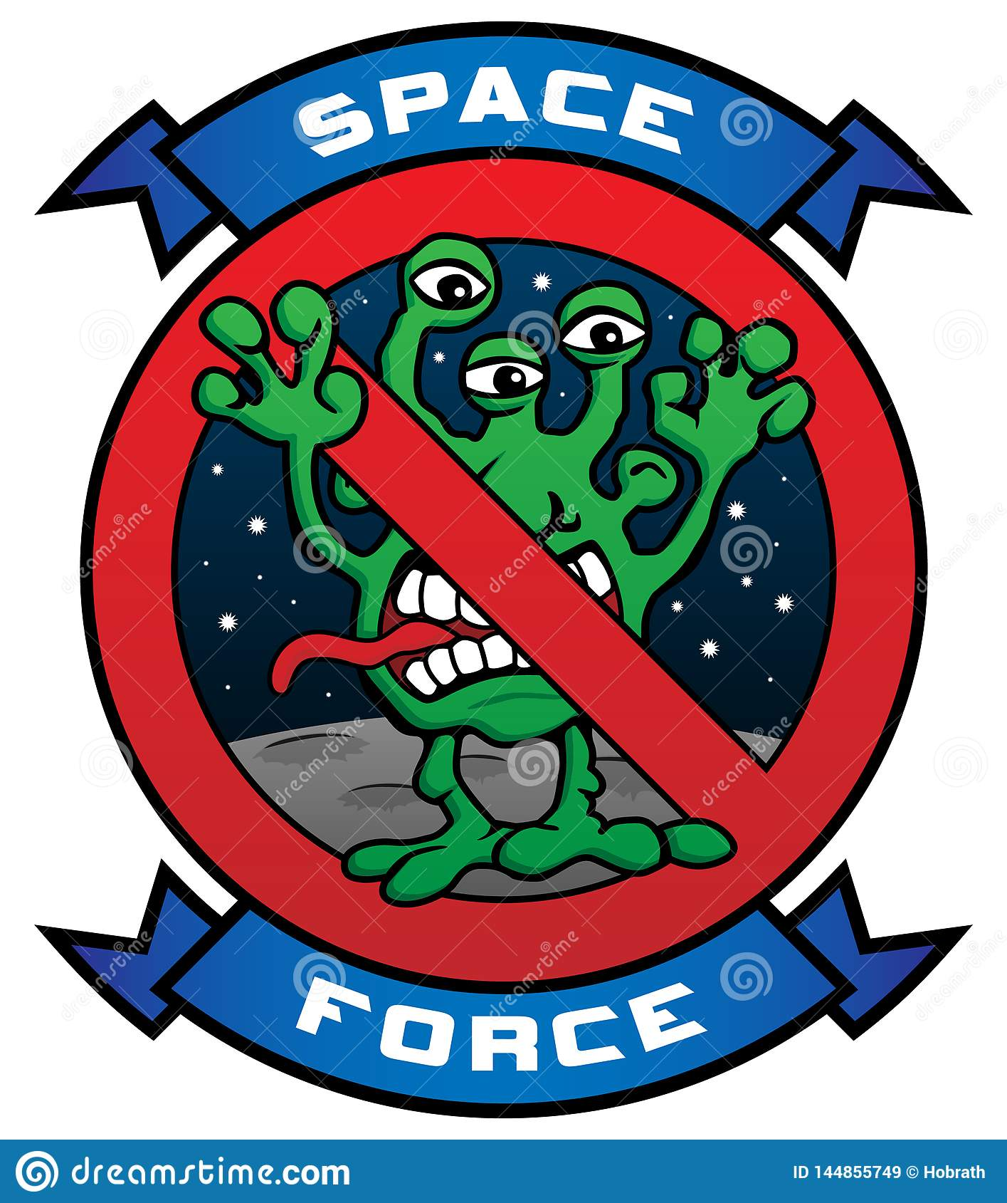 Śmiesznej Astronautycznej siły kreskówki wektoru Obca ilustracja