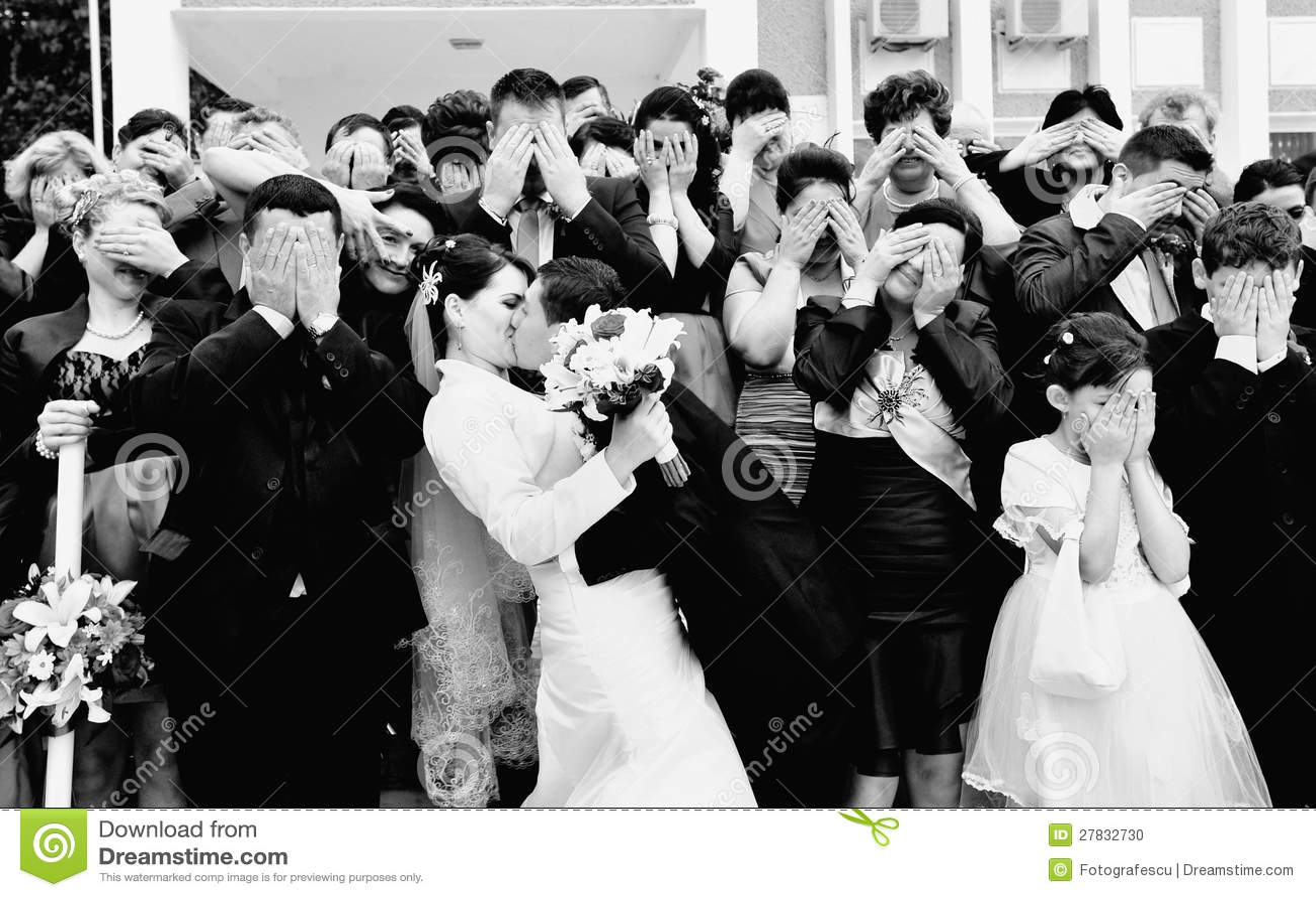 Śmieszny ślubny formalny obrazek