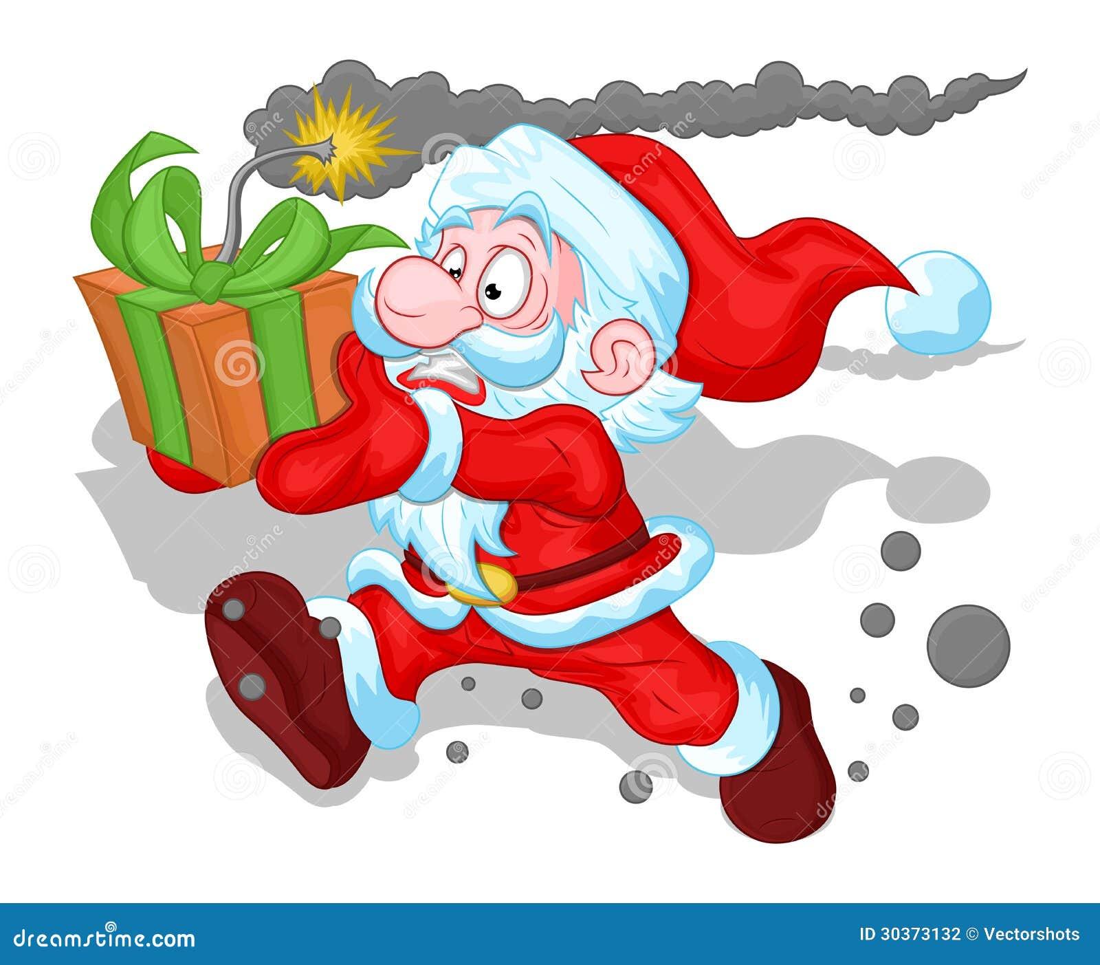 Śmieszny Święty Mikołaj pojęcie - Bożenarodzeniowa Wektorowa ilustracja