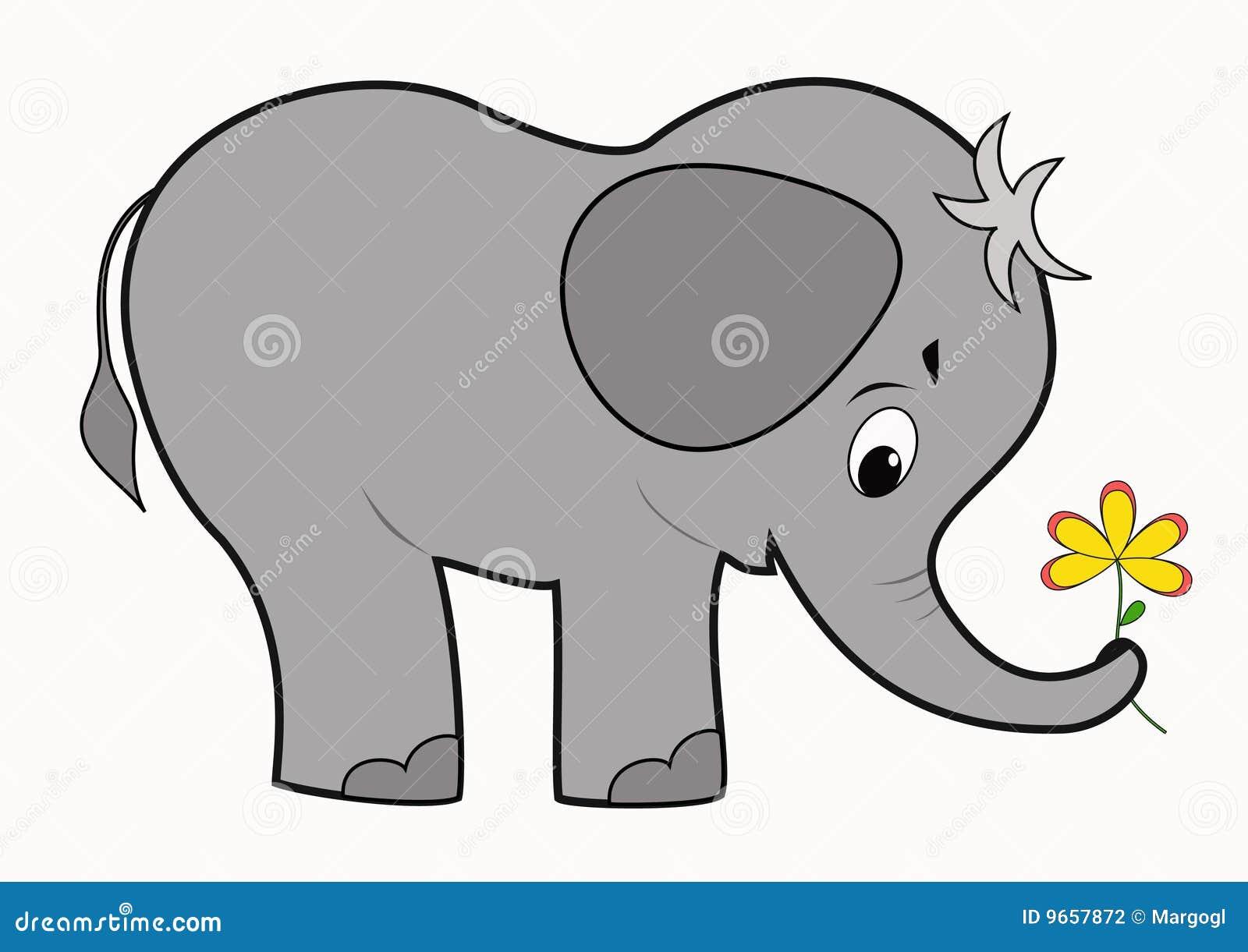 śmieszny dziecko słoń