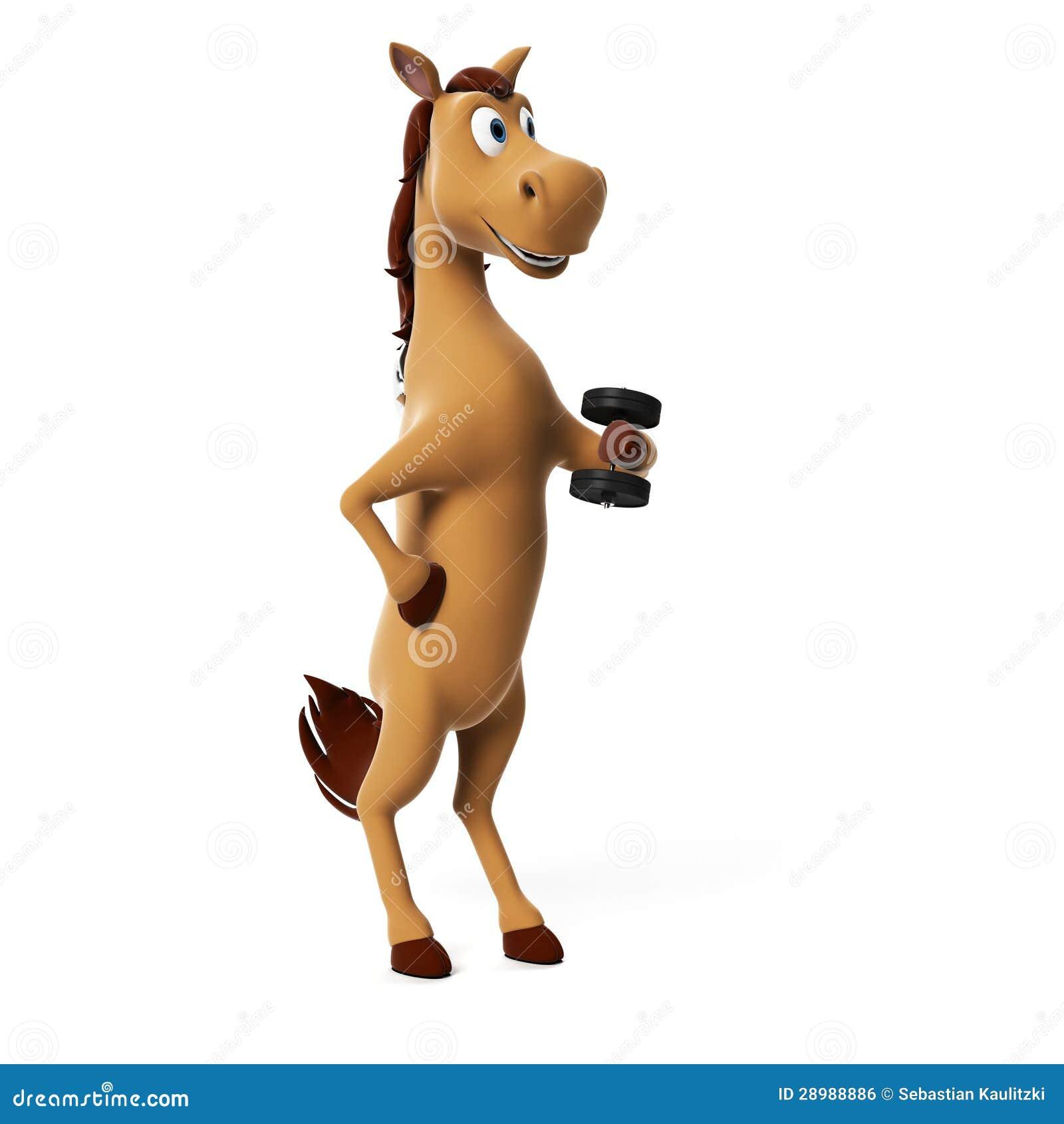 Śmieszny koński charakter