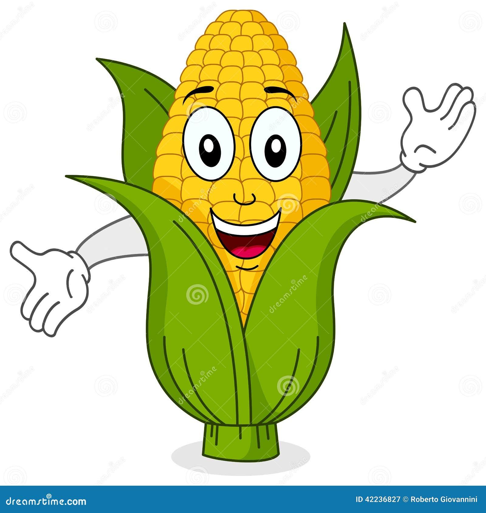 Śmieszny Kukurydzanego Cob Uśmiechnięty charakter