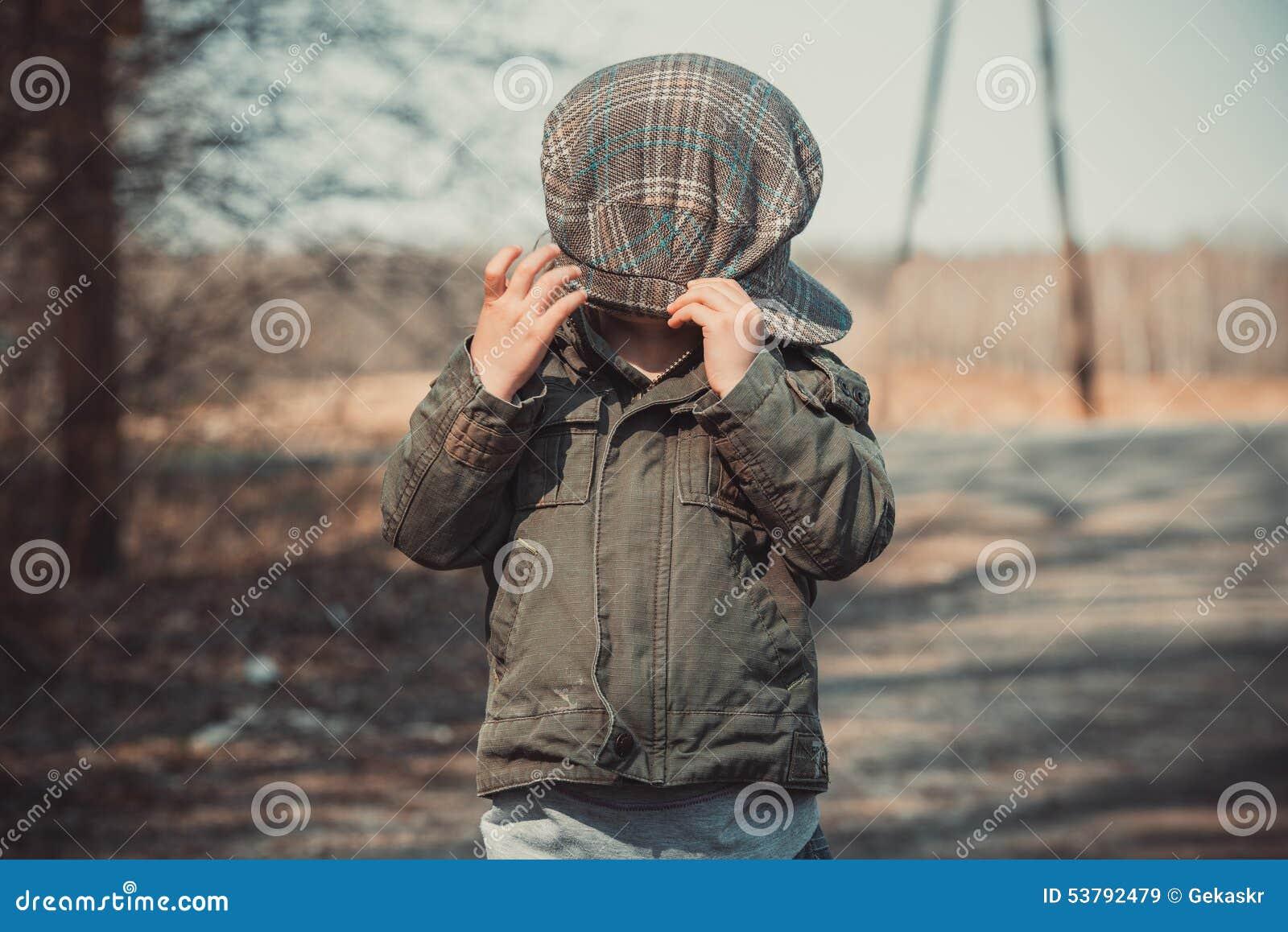 Śmieszny portret dzieciak