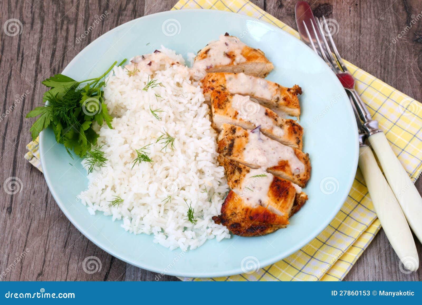 Śmietankowy kokosowy kurczak i ryż