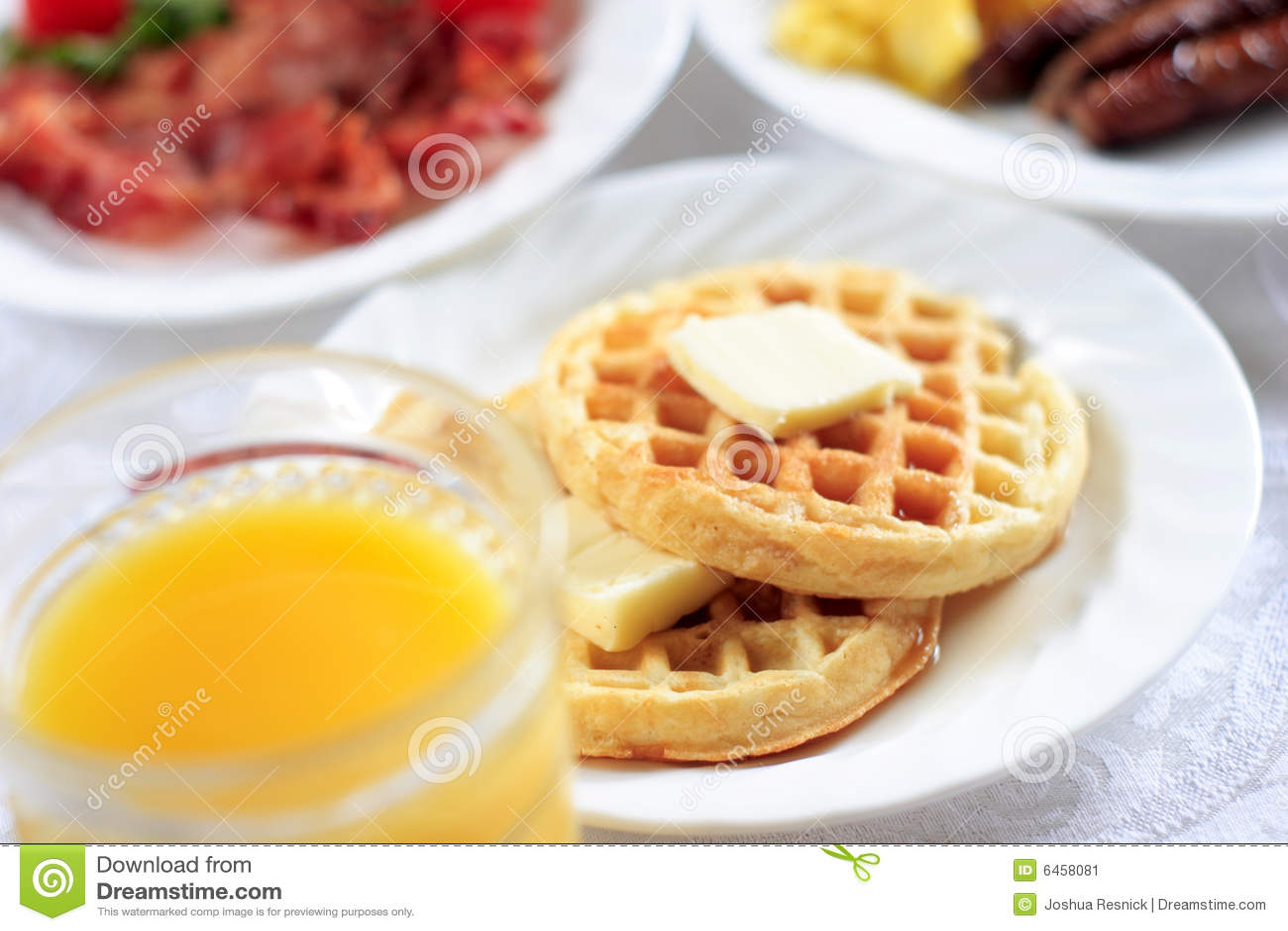 śniadanie wafle