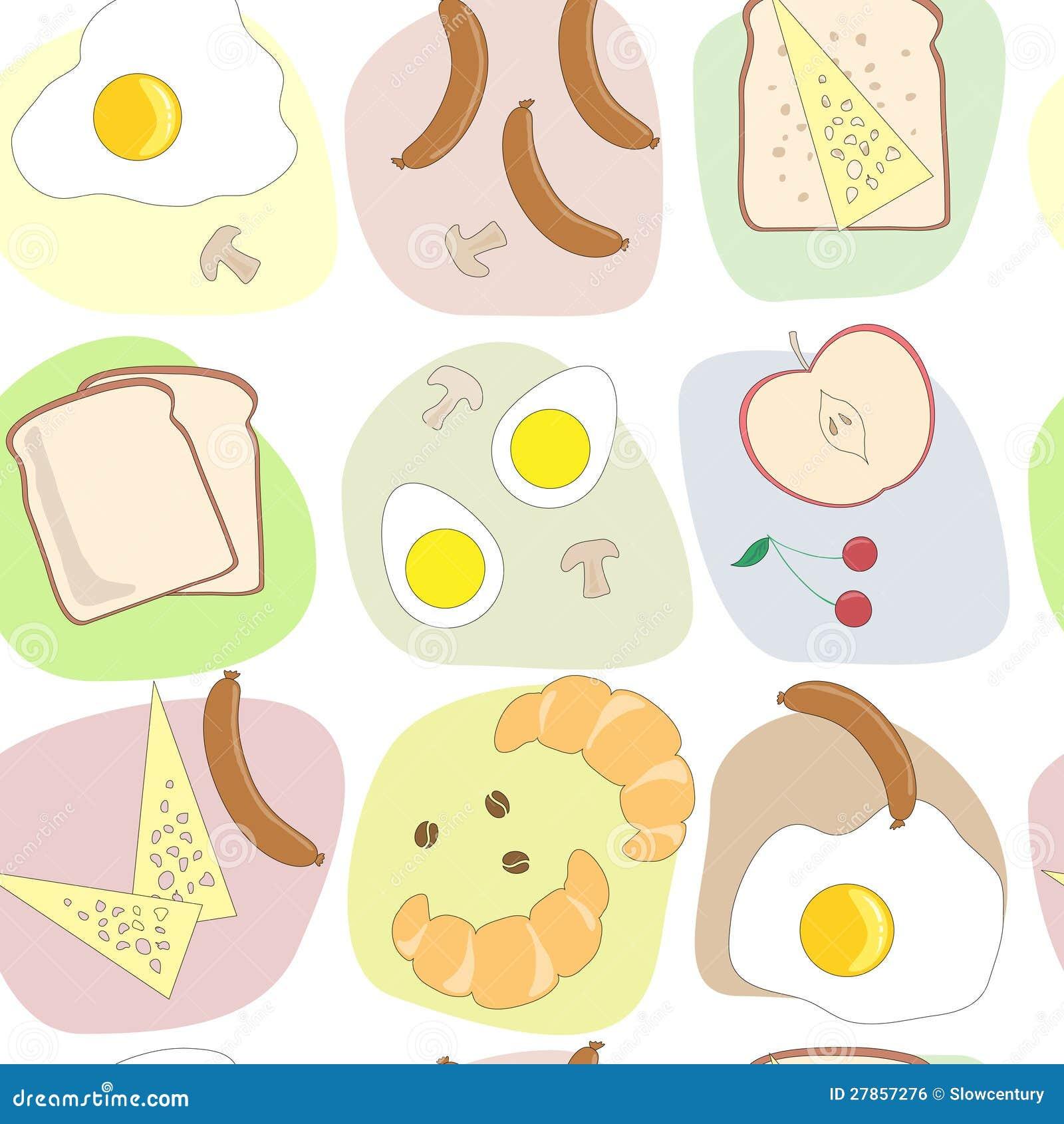 Śniadanie wzór stołowy bezszwowy