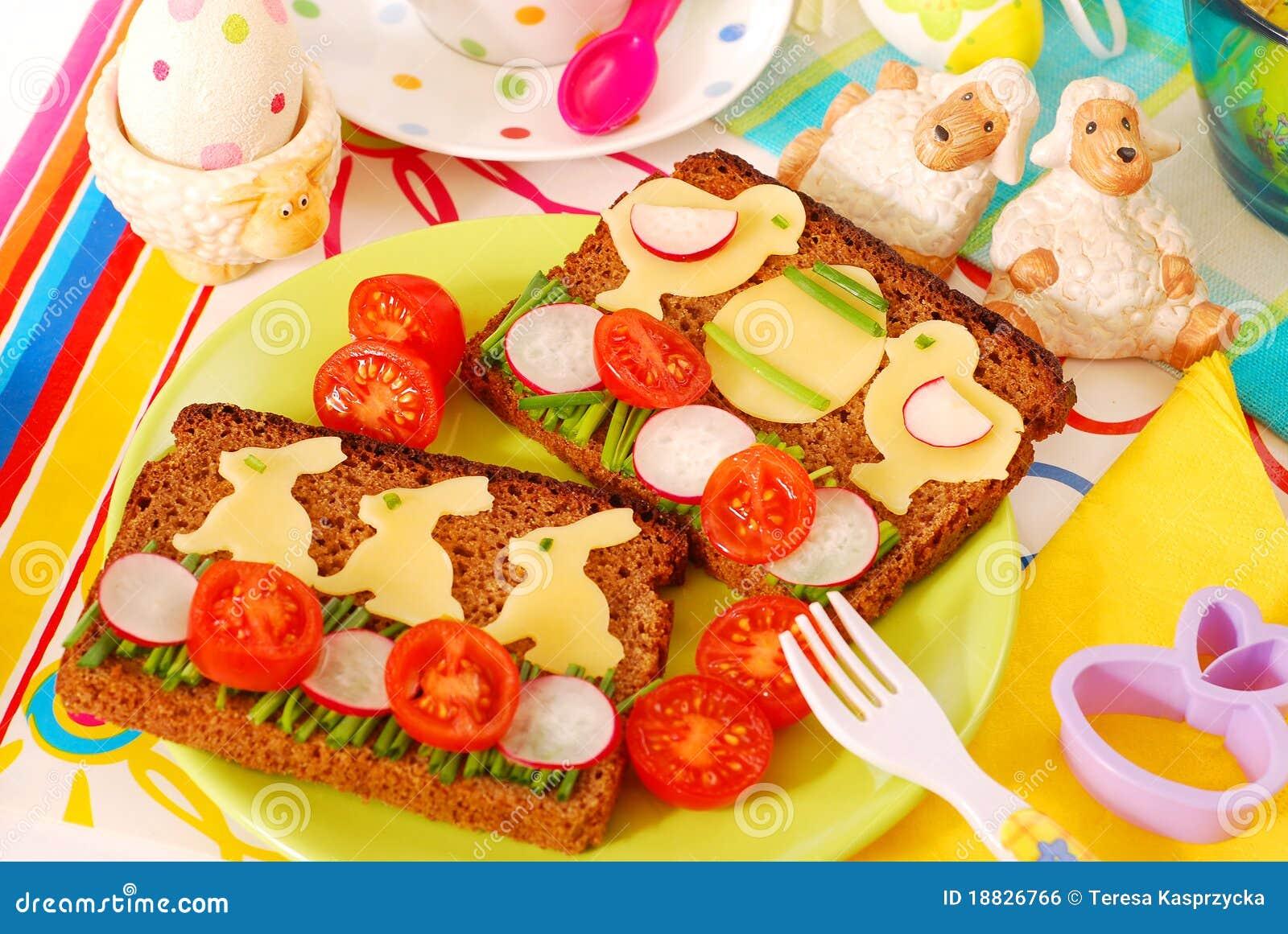 śniadaniowy dziecko Easter śmieszny