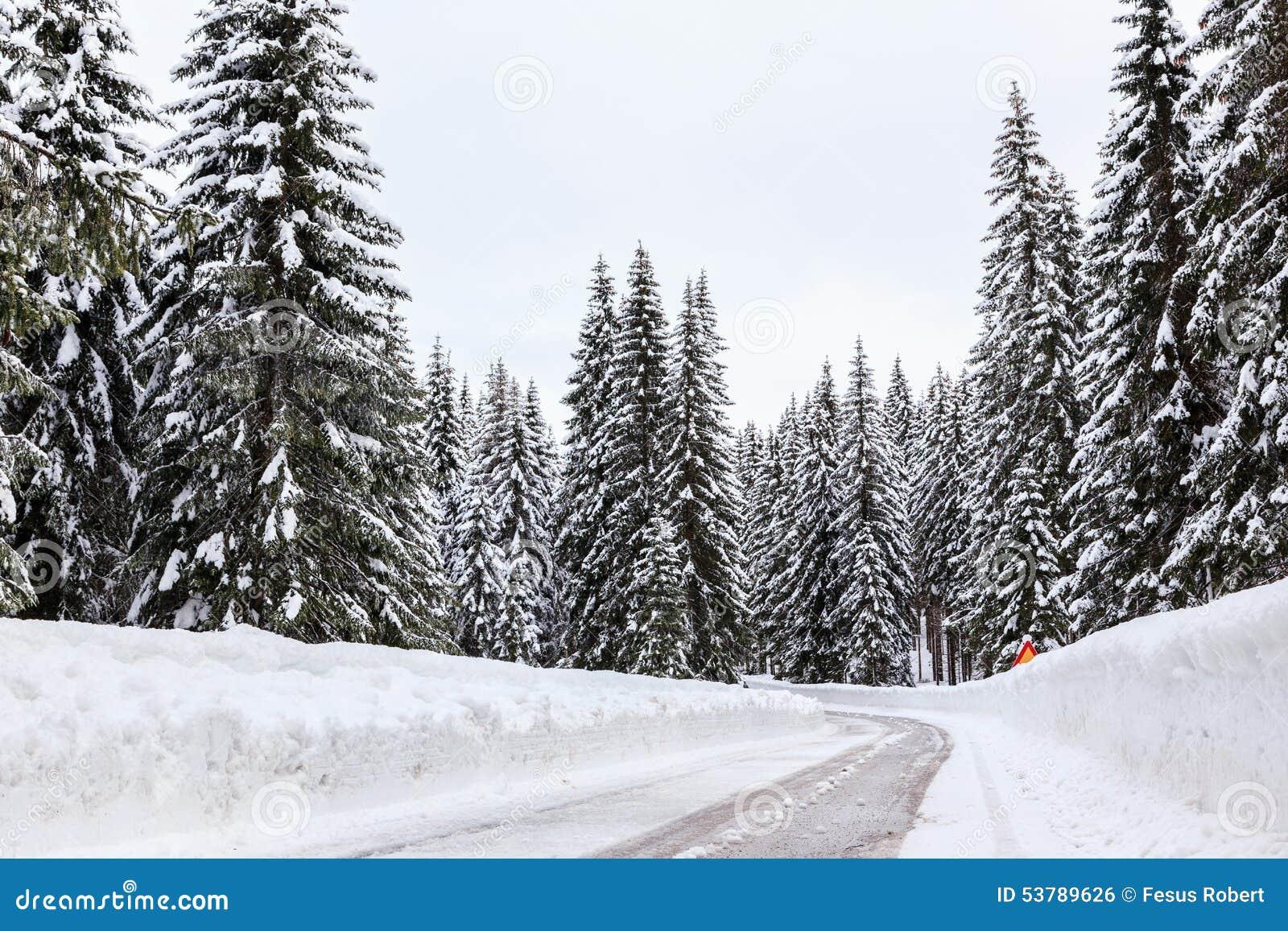 Śnieżna zimy droga