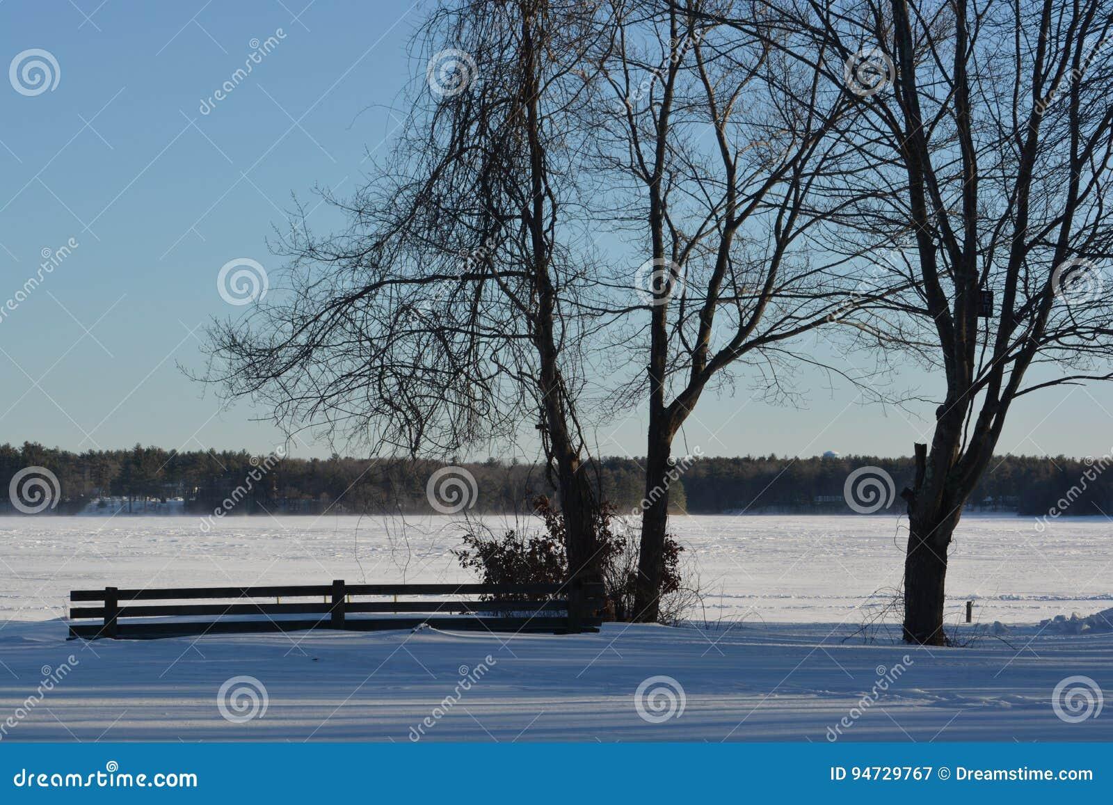 Śnieżny jezioro