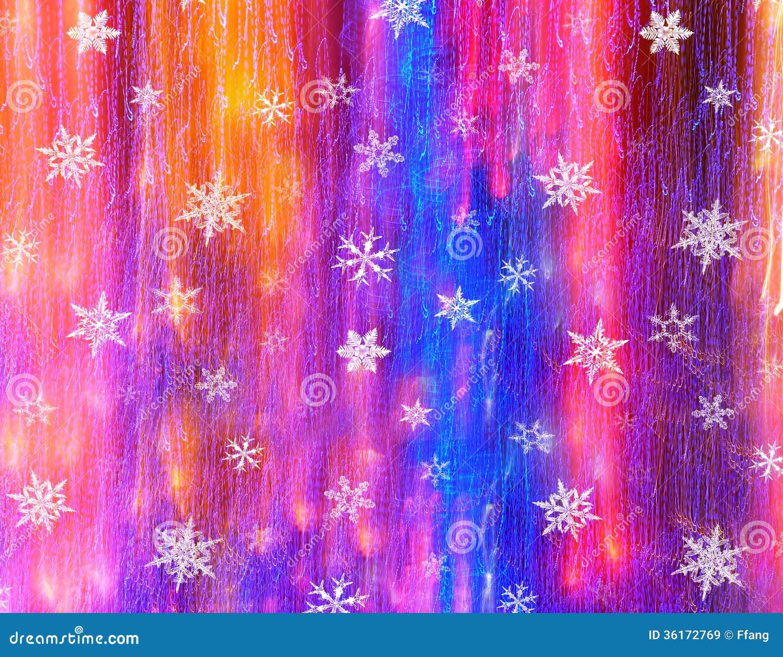Śnieżny kryształ z światła tłem