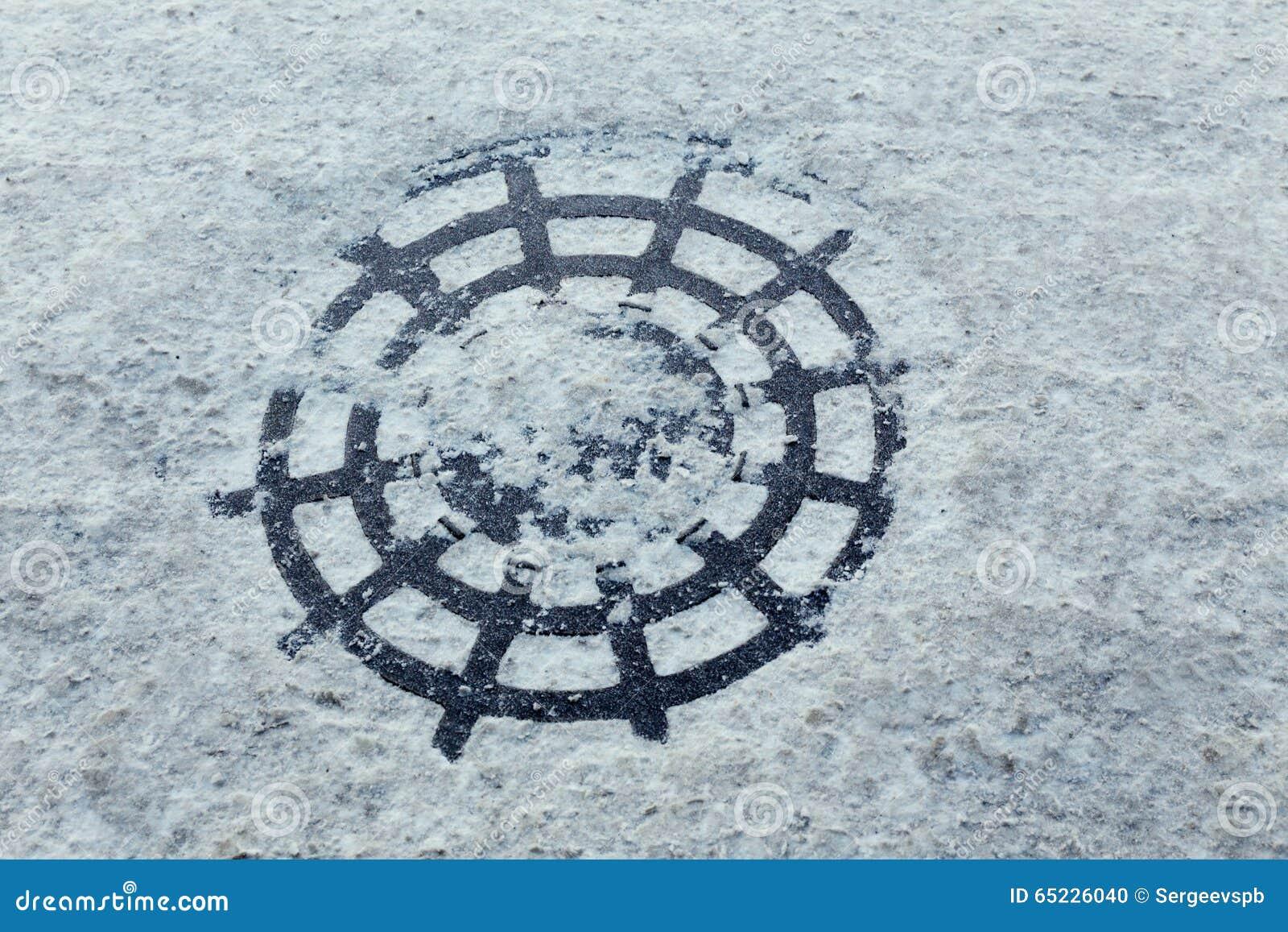Śnieżny manhole