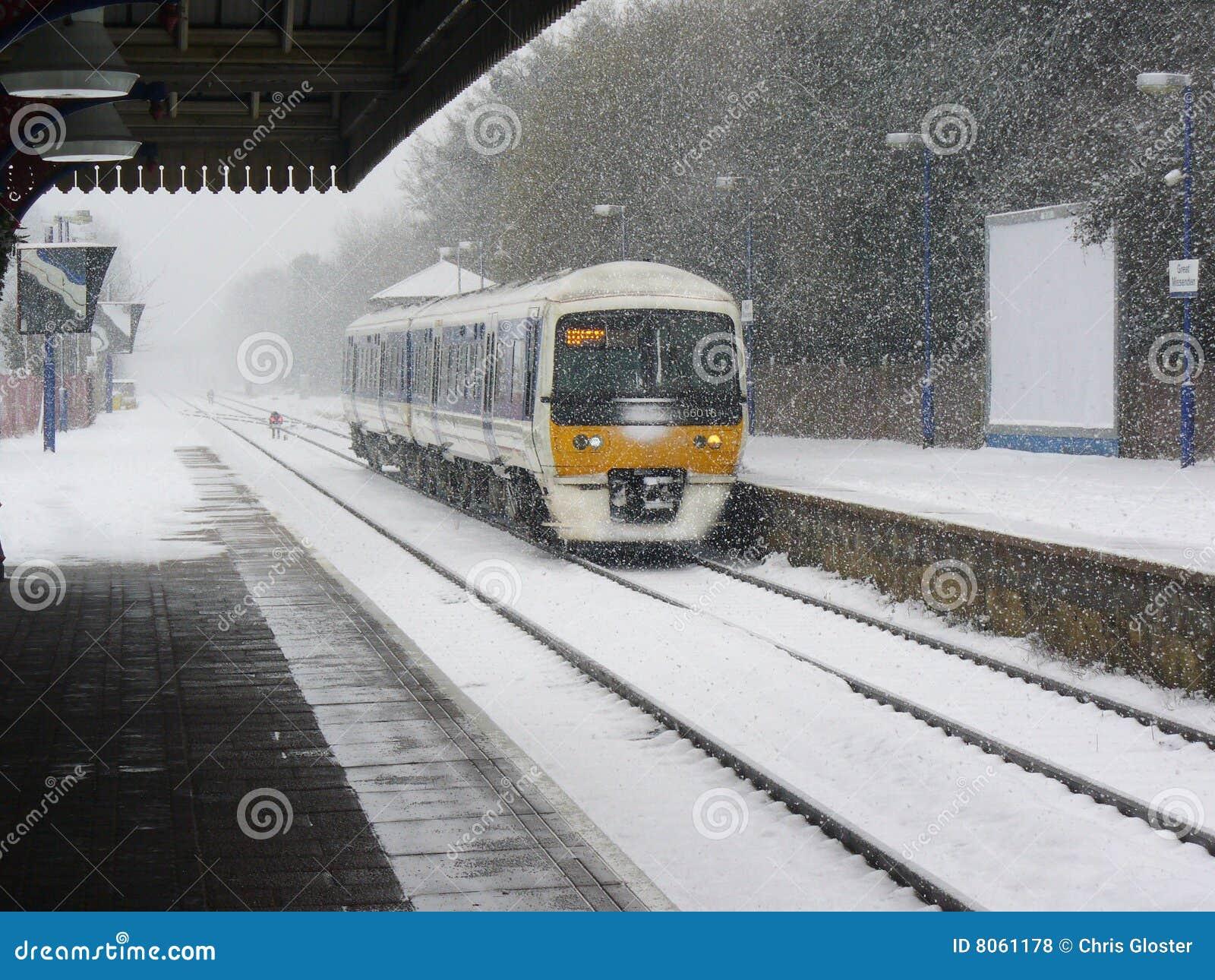 śnieżny pociąg