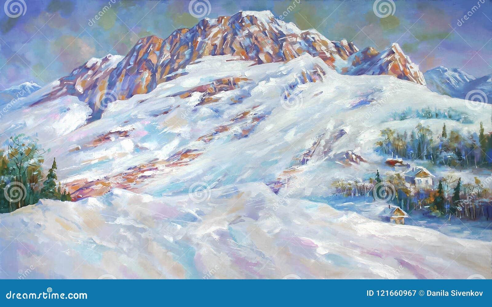 Śnieg dryfuje przy stopą góra Fisht