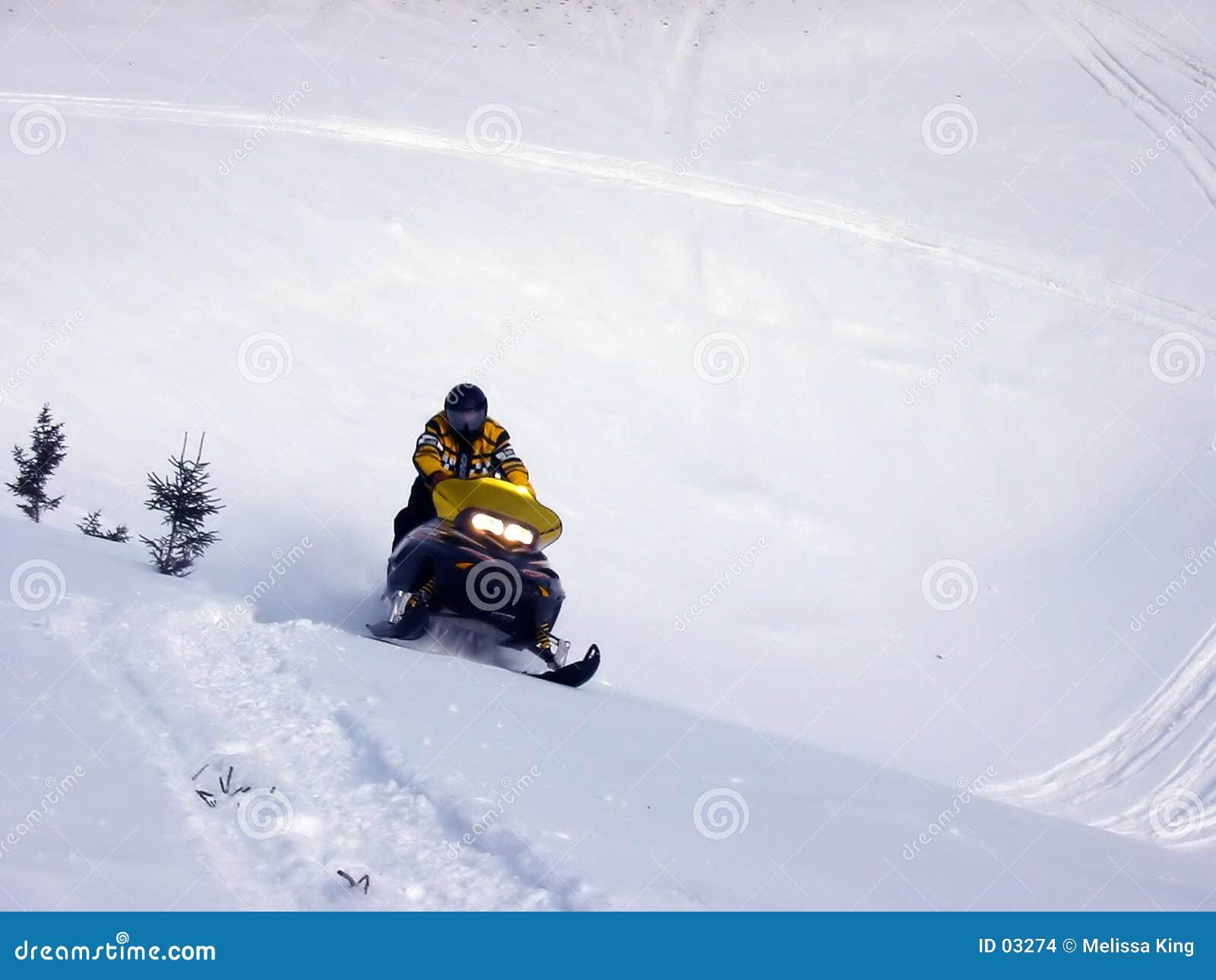 śnieg na nartach.