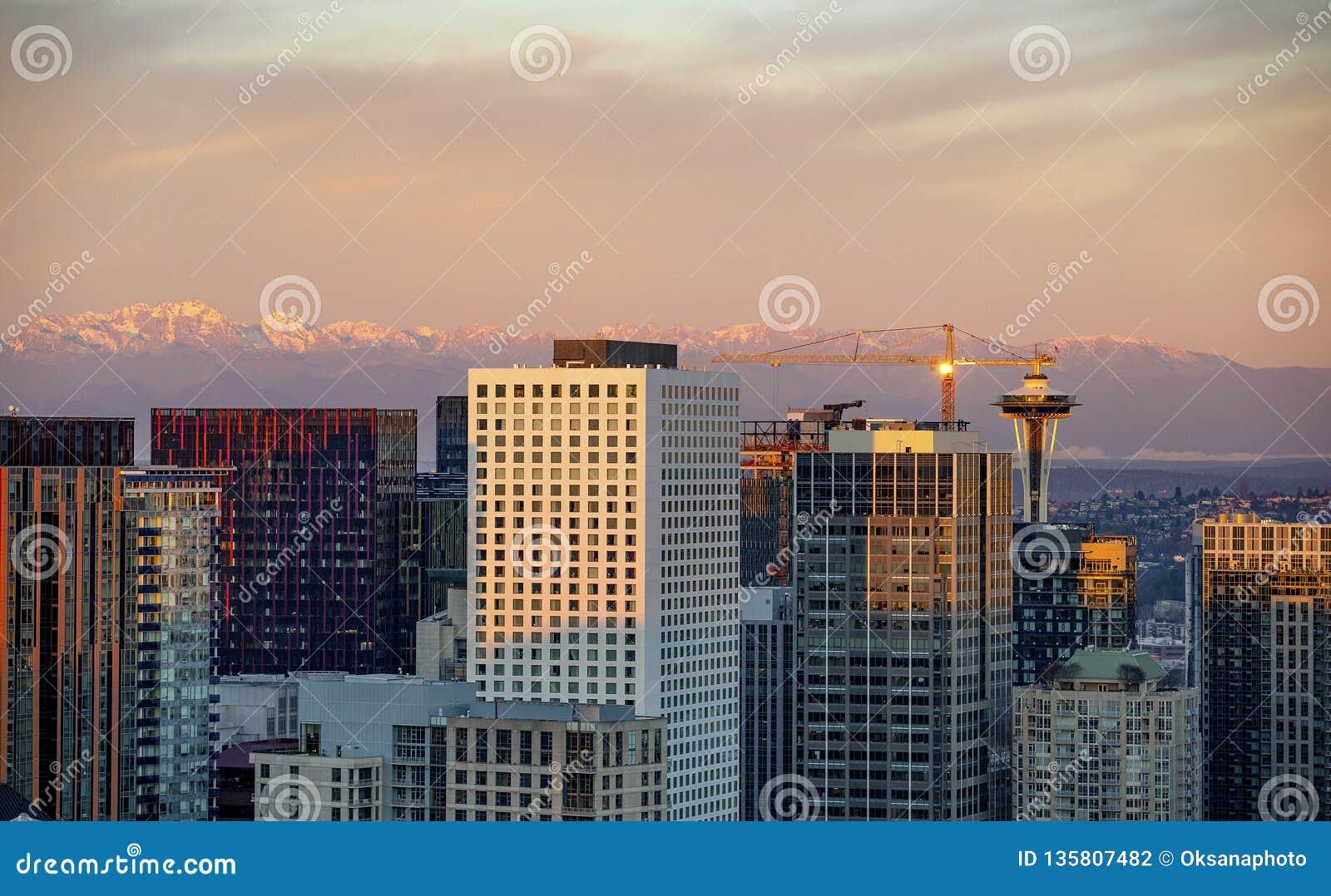 Śródmieście Seattle linia horyzontu