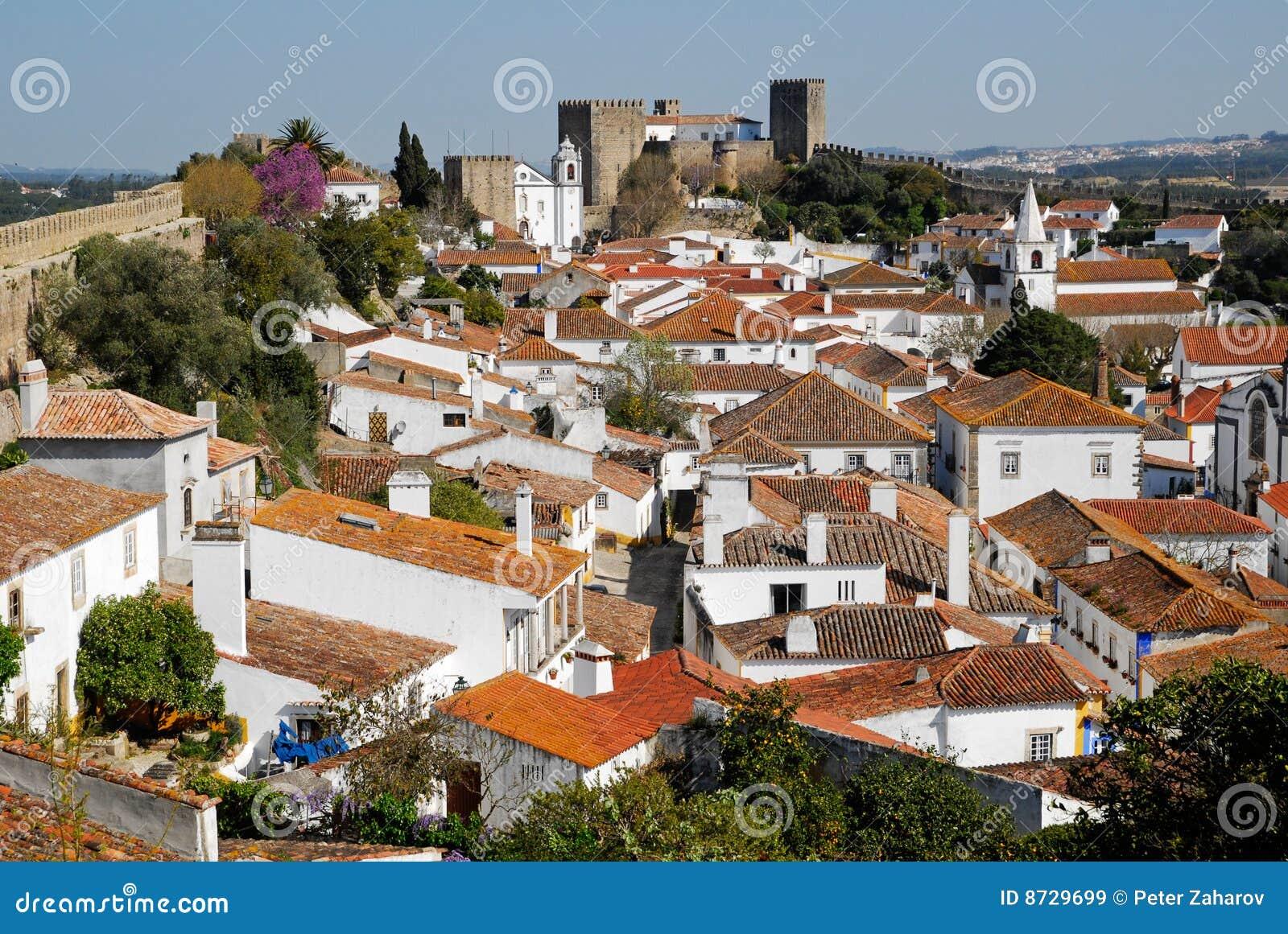 średniowieczny obidos Portugal miasteczka widok