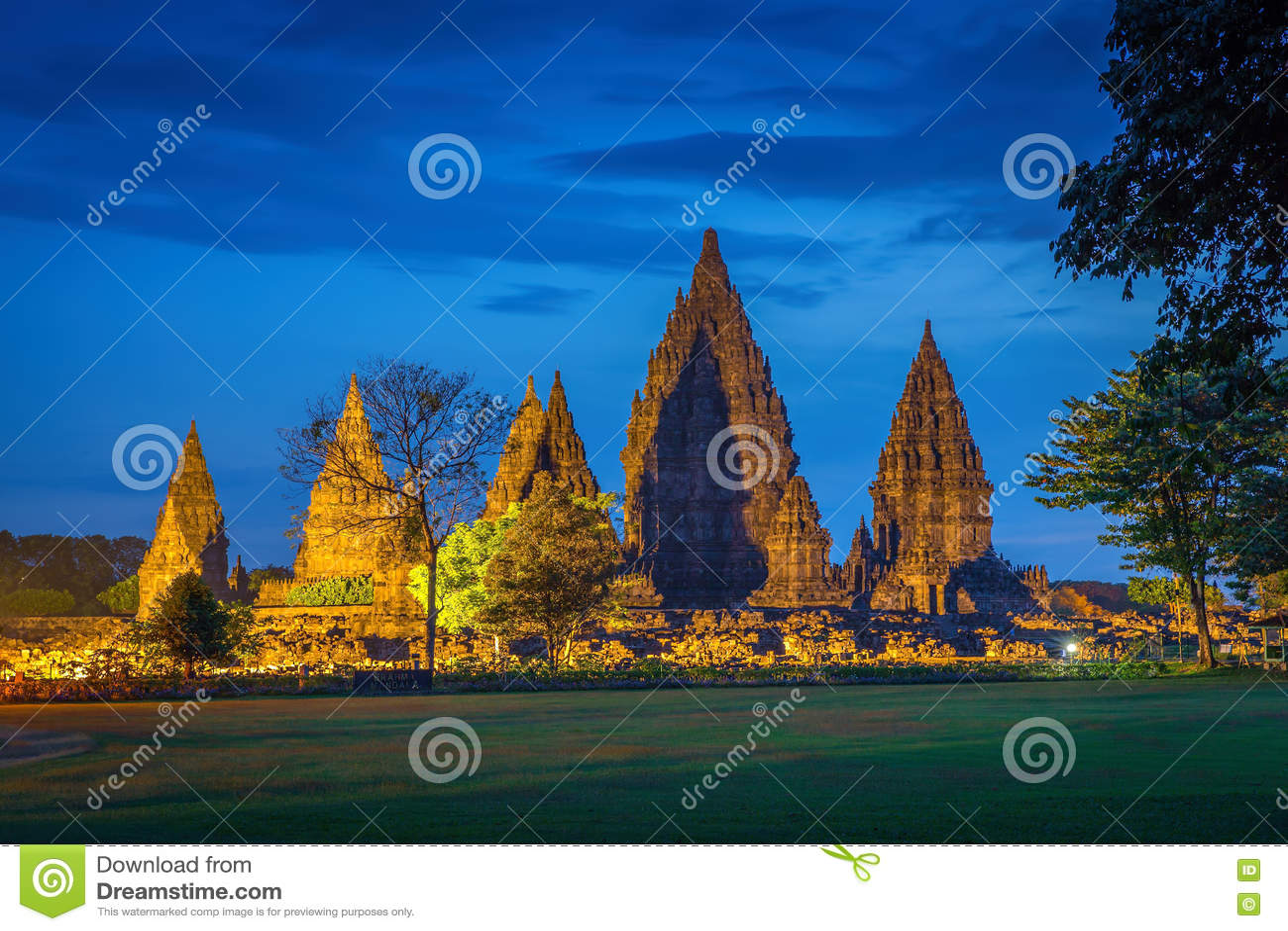 środkowy hinduski Indonesia Java prambanan świątynny Yogyakarta Indonezja