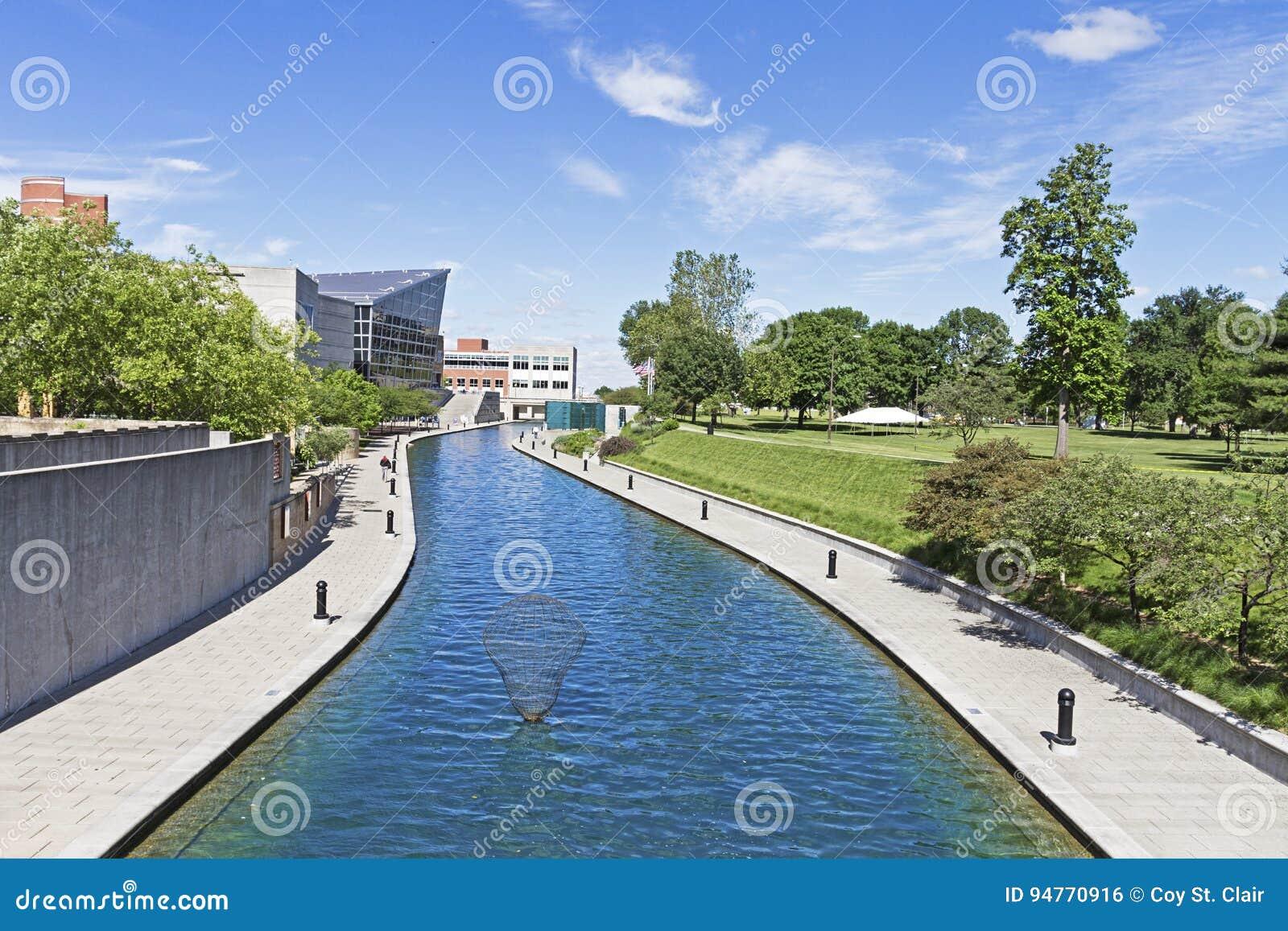 Środkowy kanał w Indianapolis, Indiana