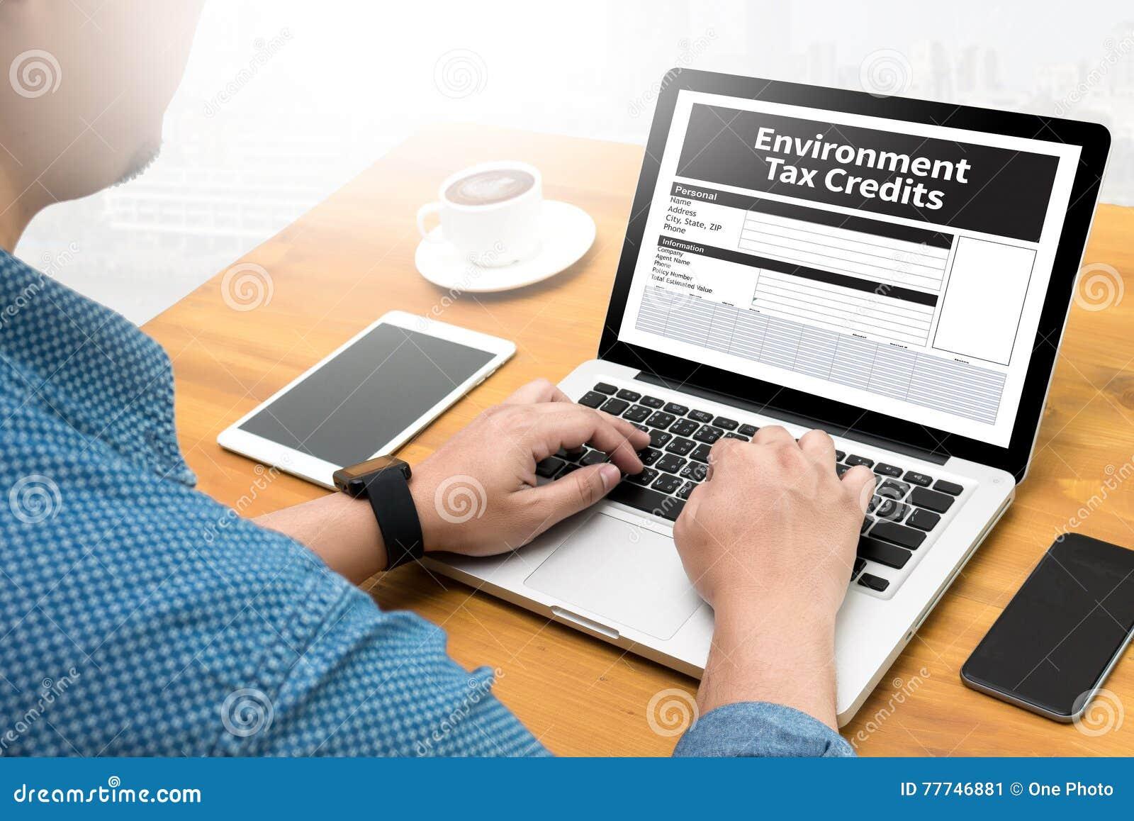Środowisko kredytów podatkowych dokumentu formy kredyty
