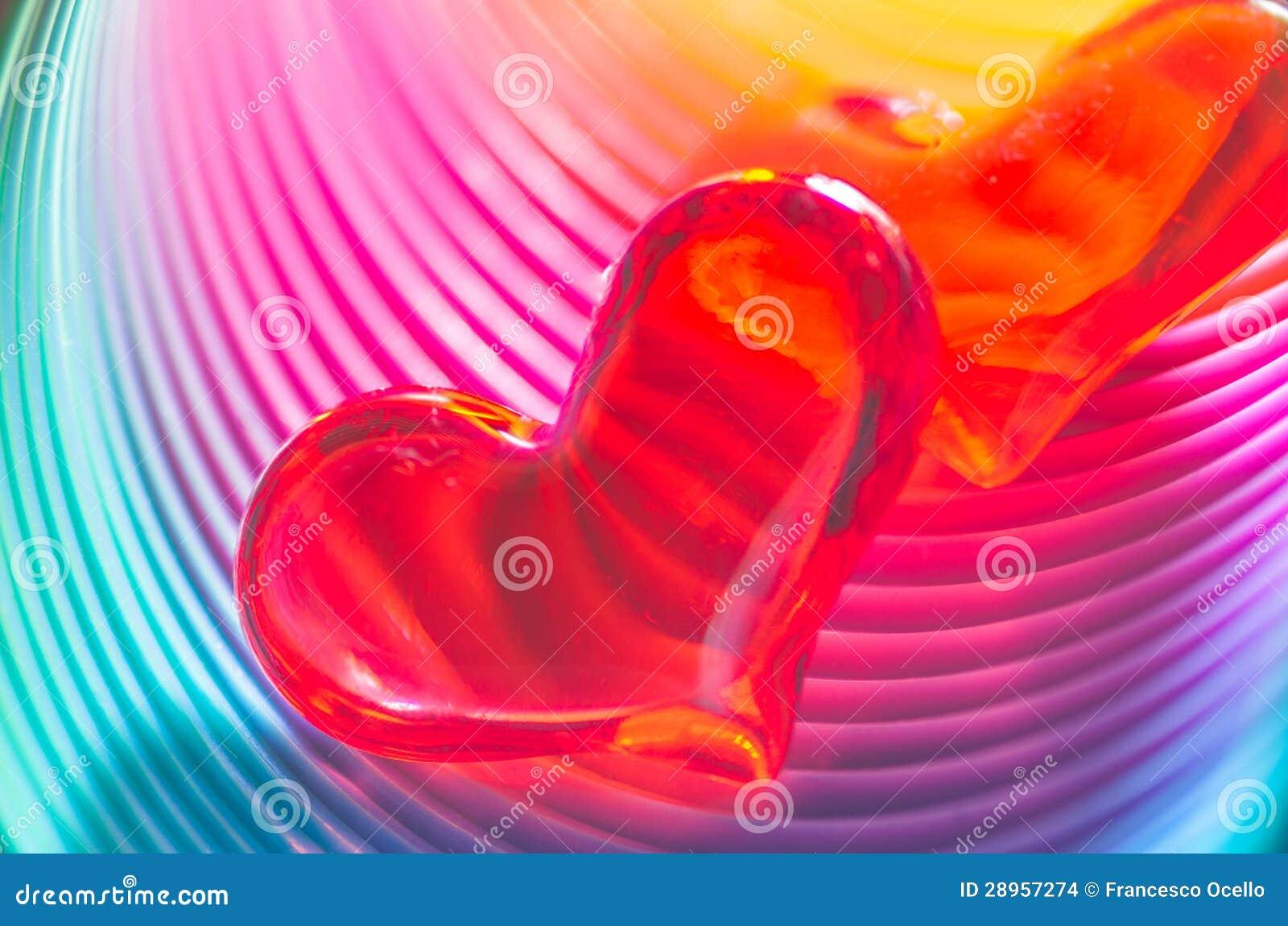 Świąteczni tęczy walentynki serca
