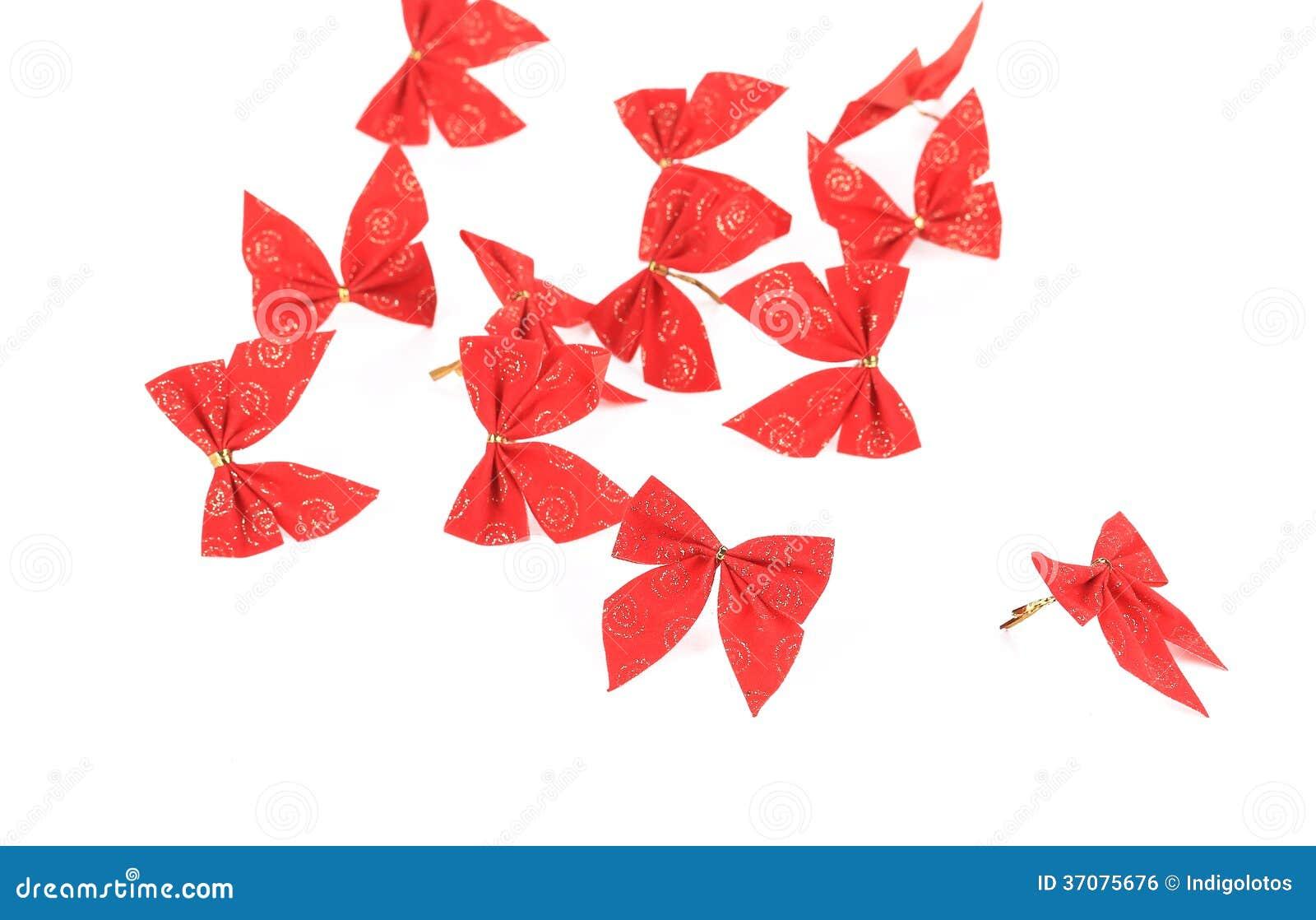 Download Świąteczny Czerwony łęk Robić Faborek. Zdjęcie Stock - Obraz złożonej z atłas, ornamental: 37075676