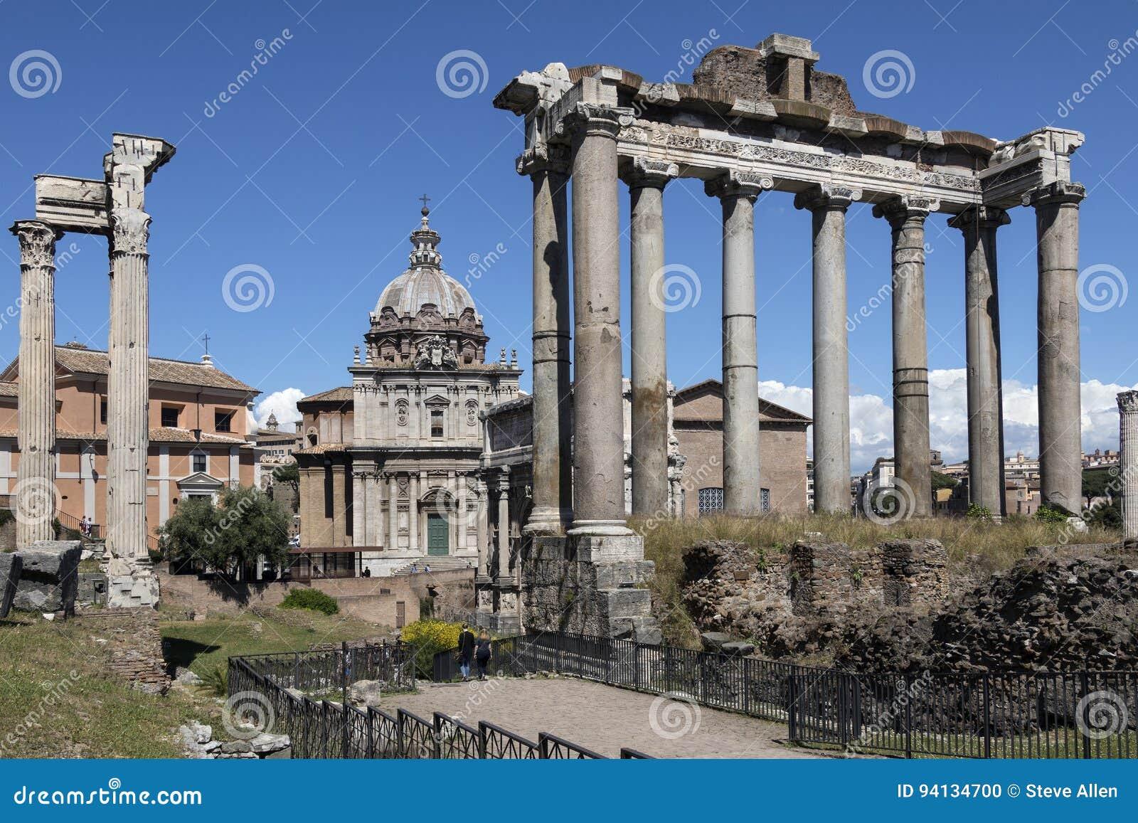 Świątynia Saturn Rzym, Włochy - - Romański forum -