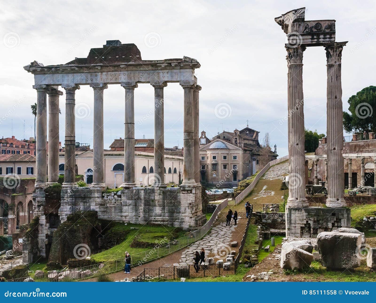Świątynia Saturn w Romańskim forum w Rzym