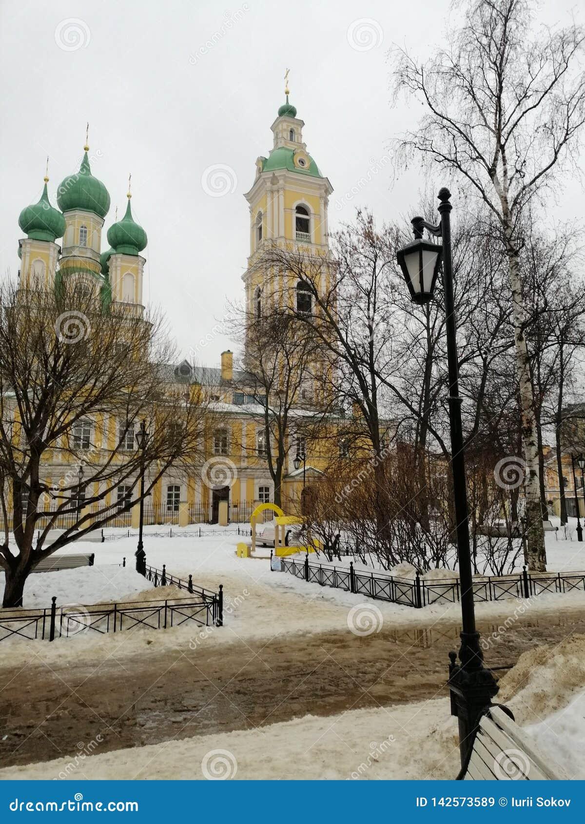 Świątynia w zimie