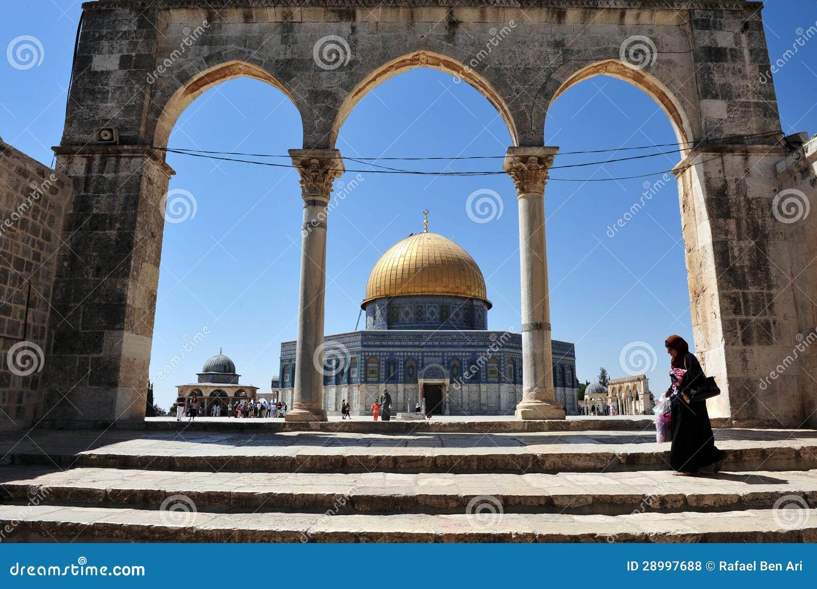 Świątynna góra i kopuła skała w Jerozolimski Izrael