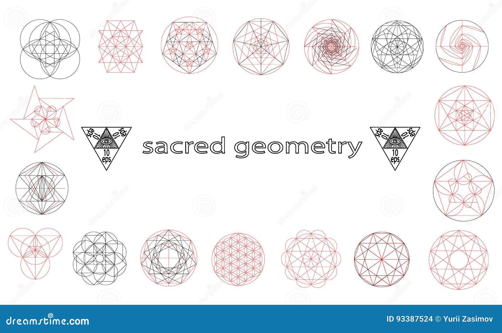 święta Geometrii Signes I Symbolilów Wektoru Ilustracja