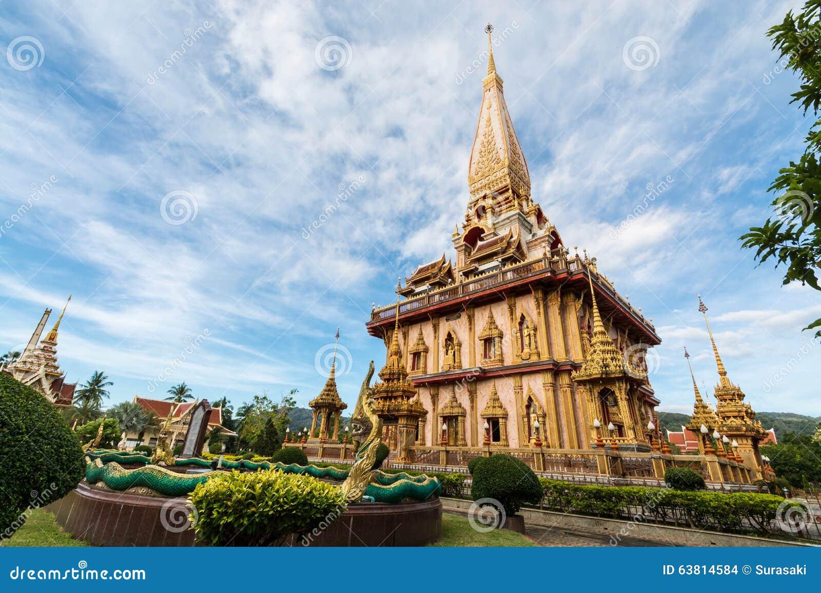 Święta pagoda w chalong świątyni, Phuket, Tajlandia