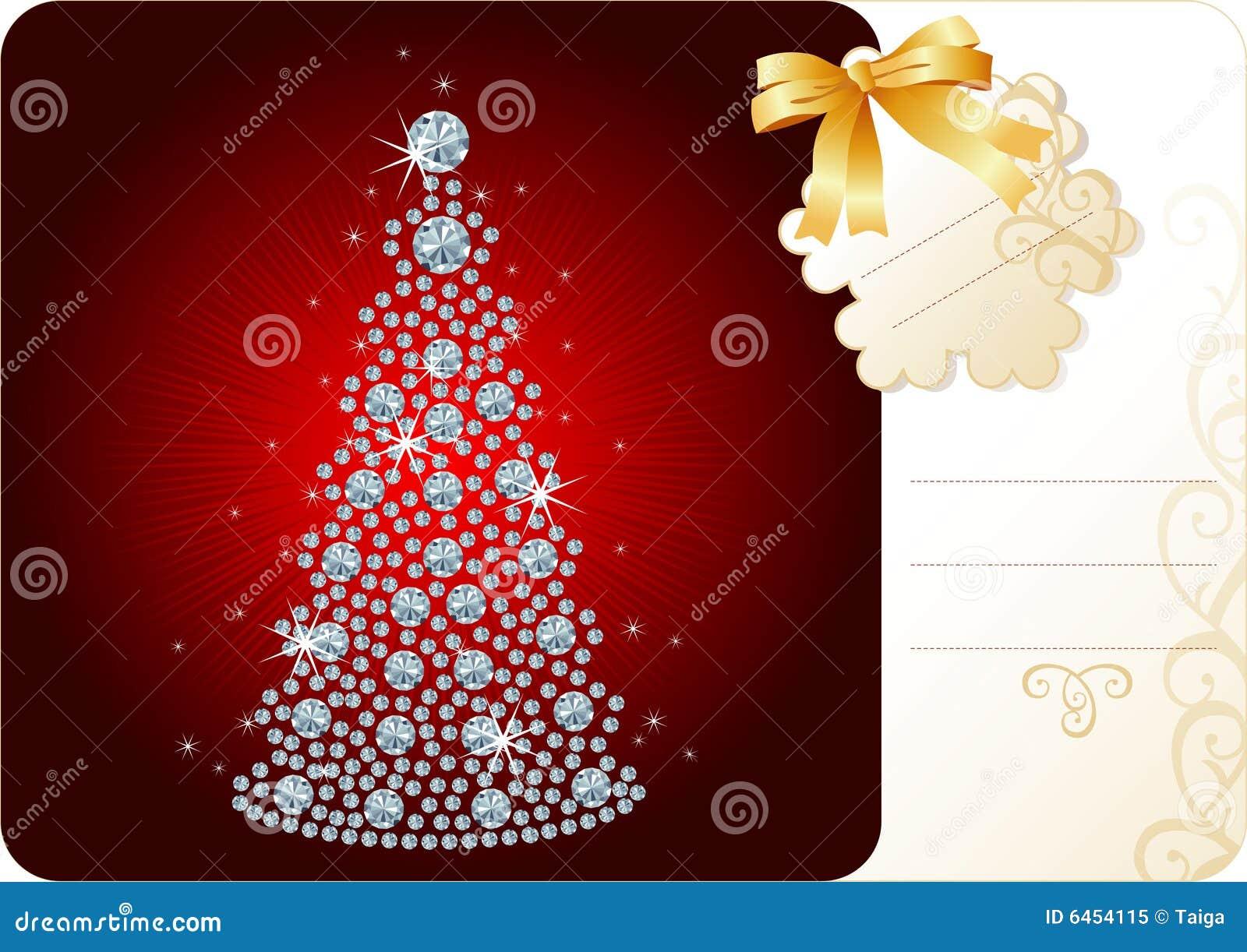 Święta tła diamentowy świąteczny drzewo