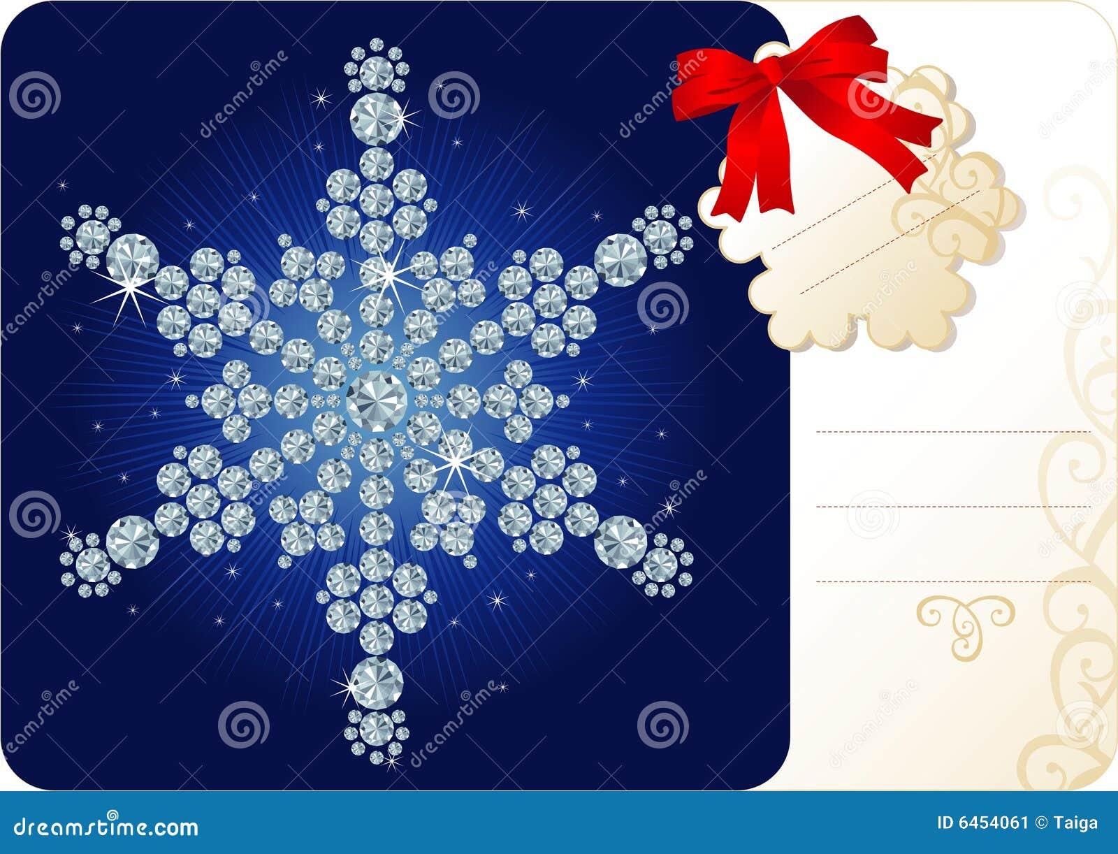 Święta tła diamentowy snowfiake etykiety
