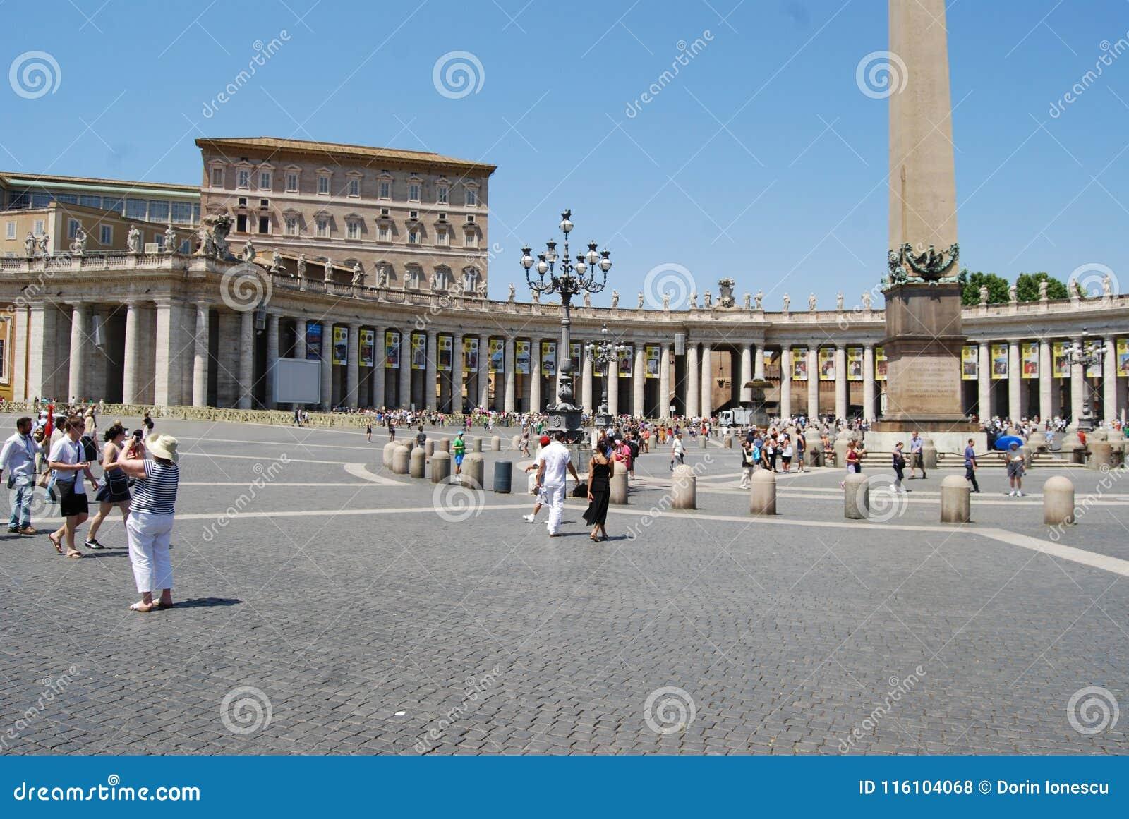 Świętego Peter ` s kwadrat, Roma, rynek, punkt zwrotny, plac, pałac