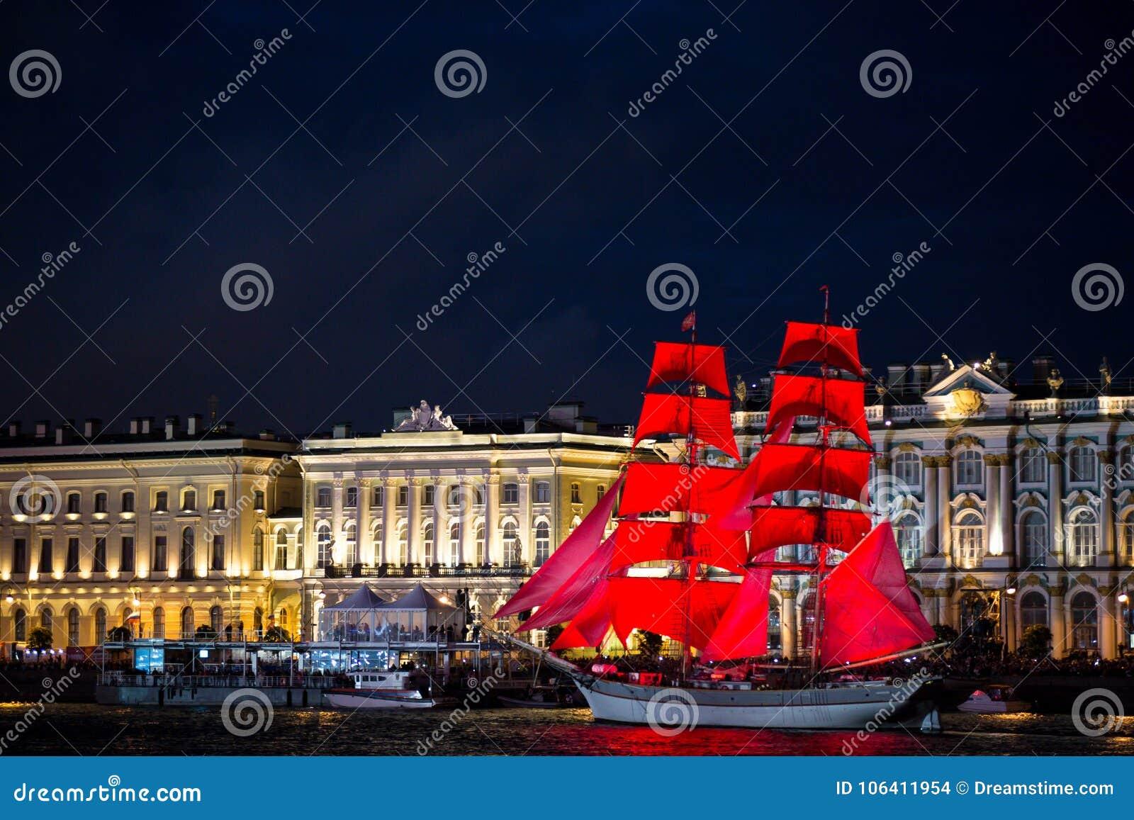 Świętego Petersburg żagli szkarłat