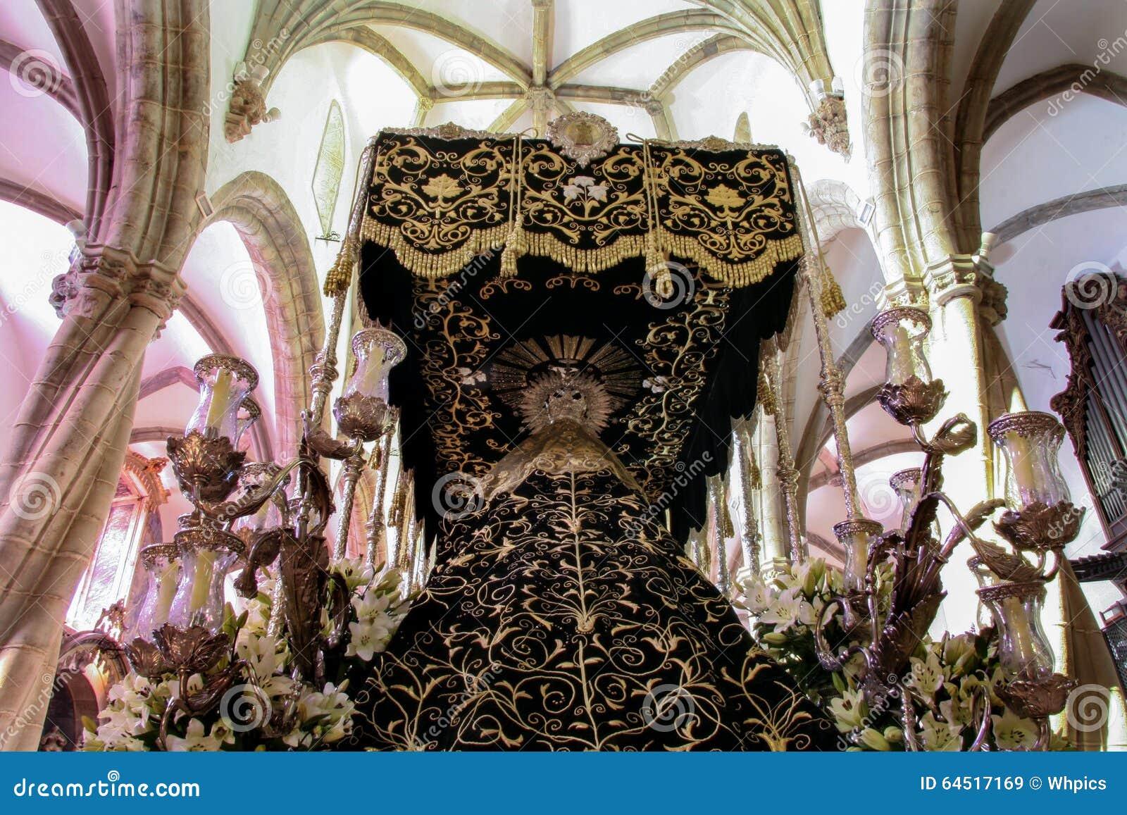 Świętego tygodnia pławik przy Świątobliwym Maryjnego Magdalene kościół, Olivenza