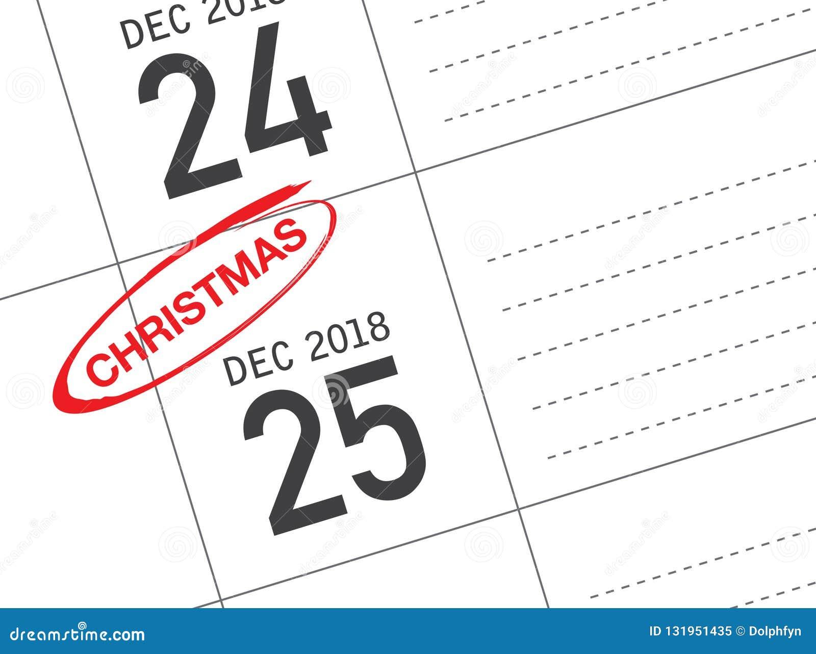 Święto Bożęgo Narodzenia kalendarz na dzienniczku